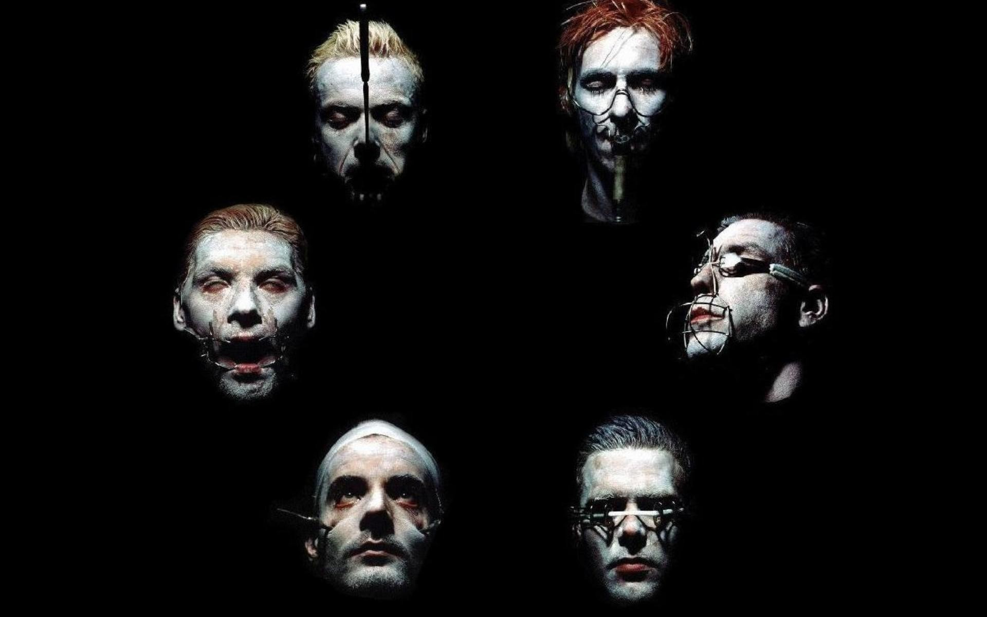 Wallpaper Rammstein, Band, Members, Faces, Horror