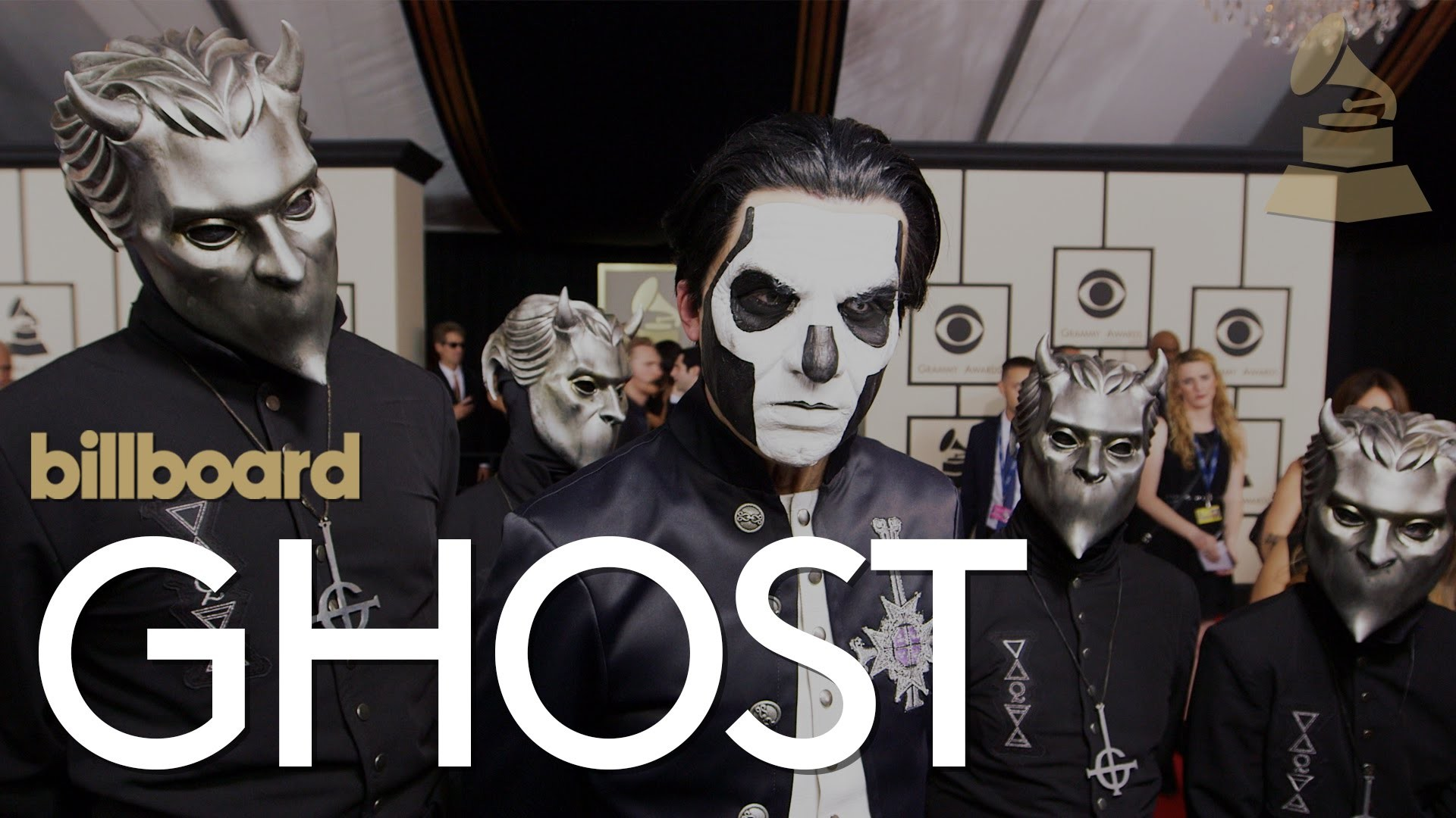 GHOST Papa Emeritus' Awkward First Interview on The GRAMMYS Red Carpet Is  Hilarious – Metal Injection