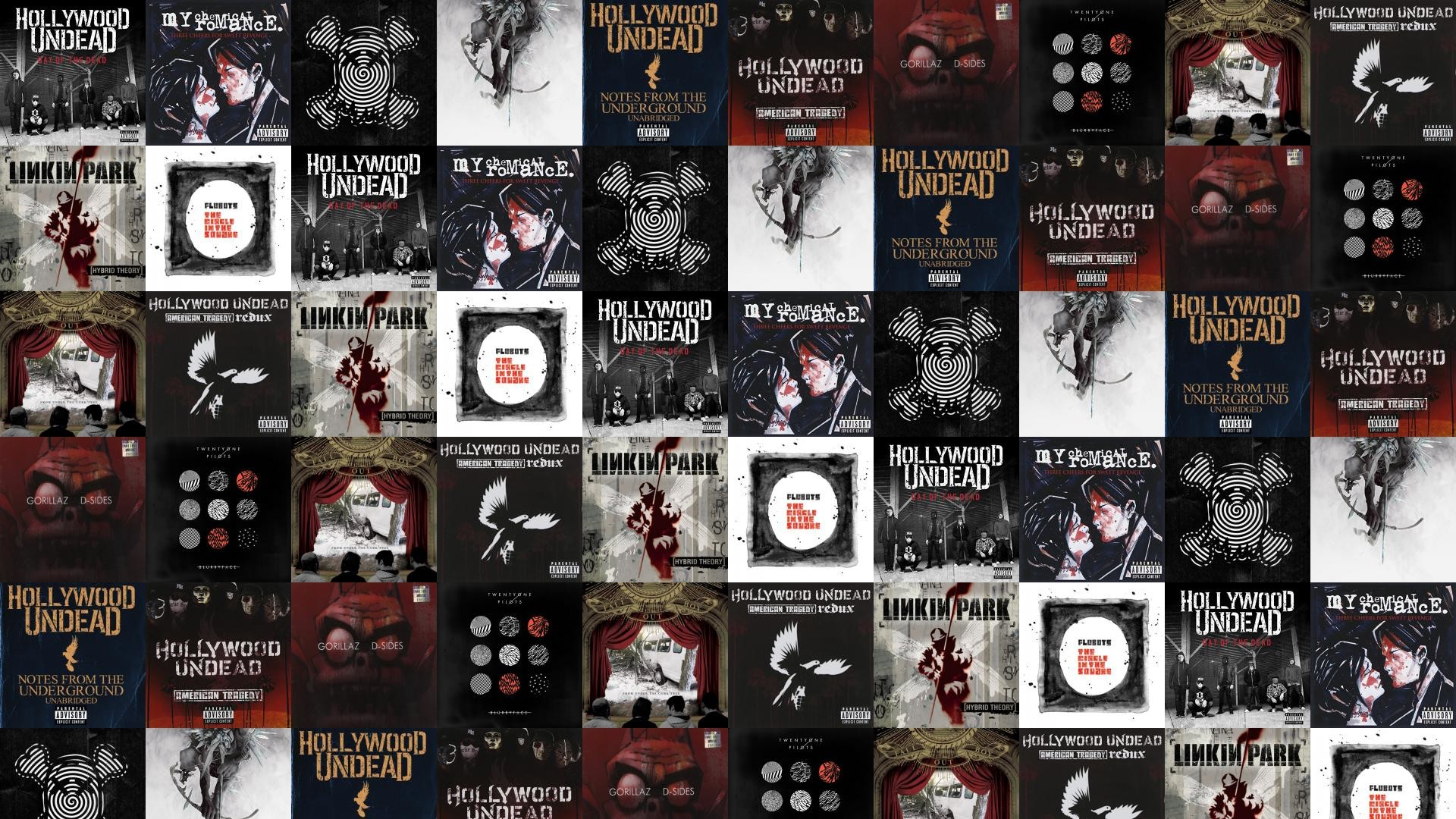 Download this free wallpaper with images of Hollywood Undead – Day Of The  Dead, My Chemical Romance – Three Cheers For Sweet Revenge, Ghost Town –  The After …