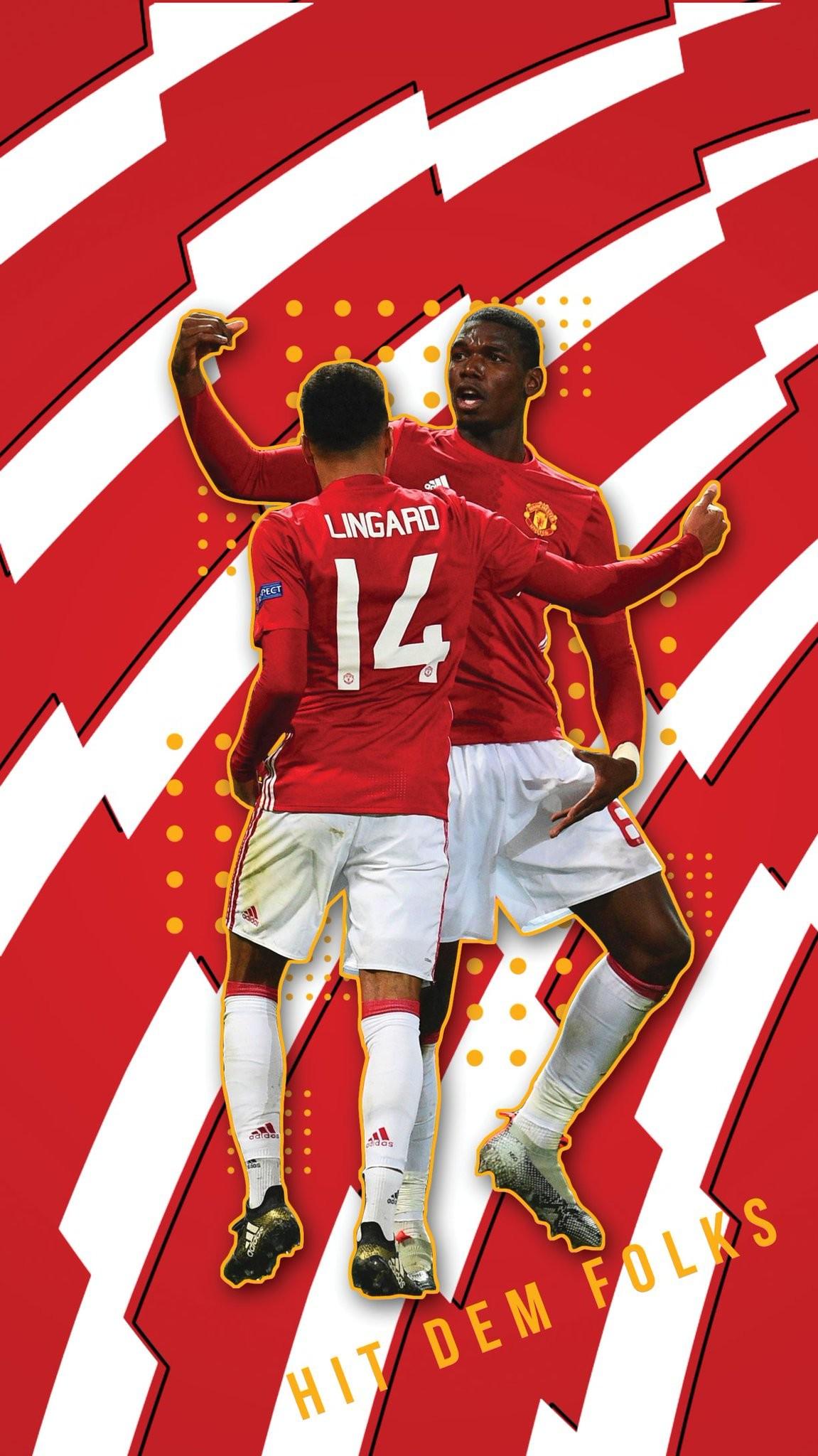 "Footy Wallpapers on Twitter: ""Jesse Lingard & Paul Pogba ""Hit Dem Folks""  iPhone wallpaper. RTs much appreciated #MUFC https://t.co/XLDry5EBaY"""