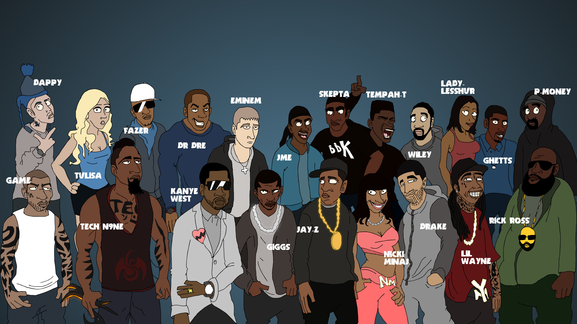 funny rap background