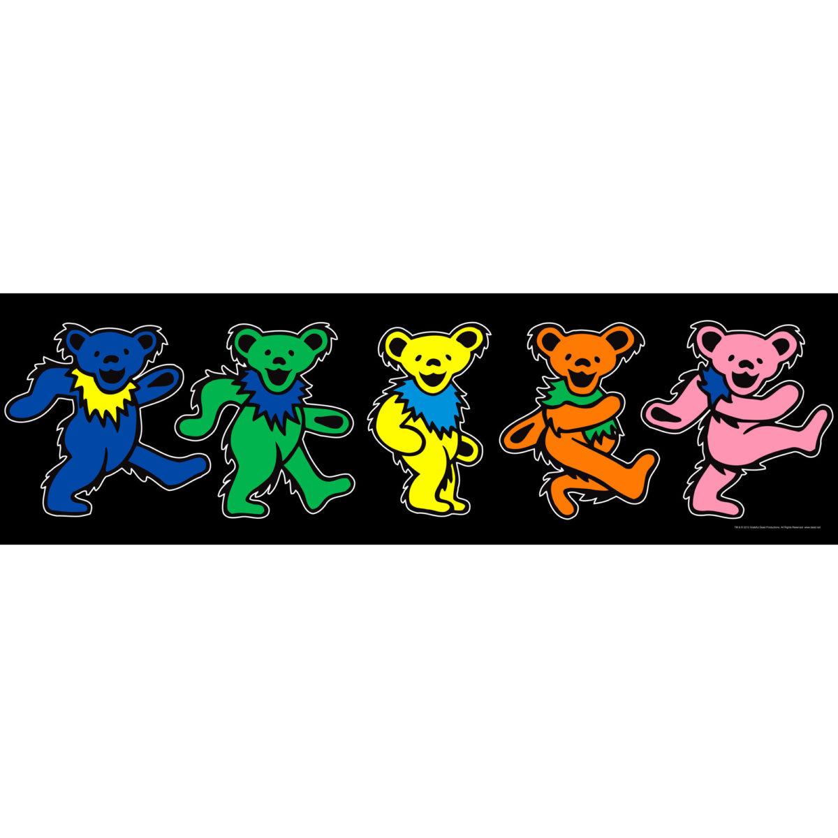 Description: The colorful, classic Grateful Dead dancing bears come to .