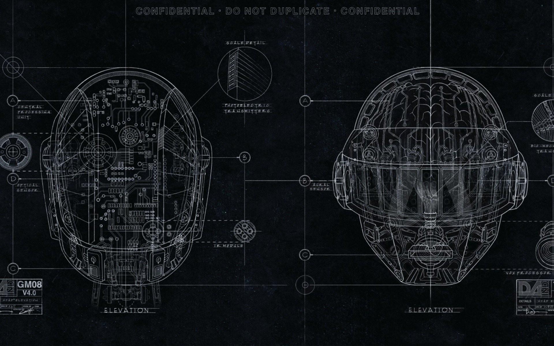 Daft Punk EDM 2048×1152 Resolution