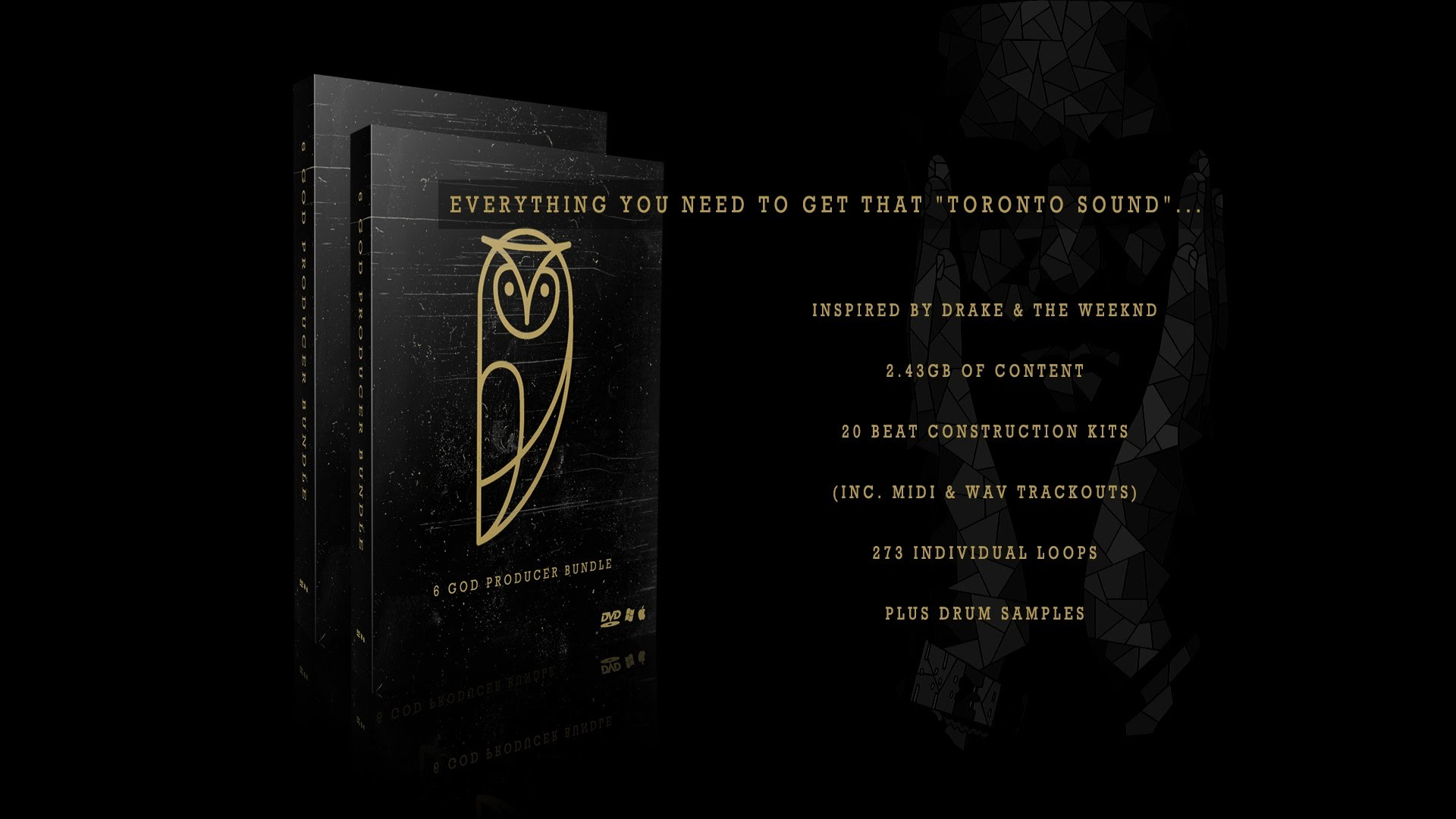 """6 God"" Producer Bundle (In the style of Drake / Noah 40 Shebib Sample Pack  & Drum Kit) – YouTube"