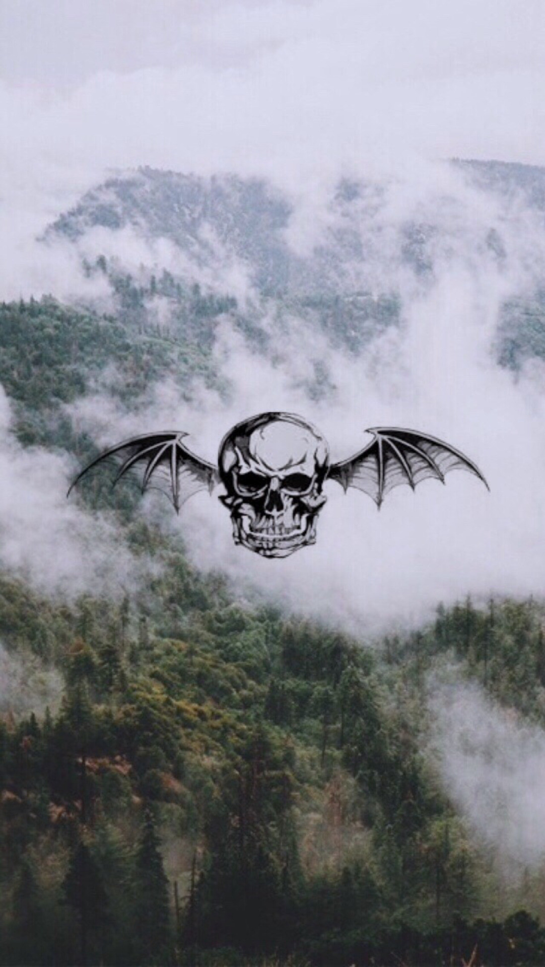 #avengedsevenfold. pretty epic deathbat wallpaper, picture found on tumblr:  hqlockscreens