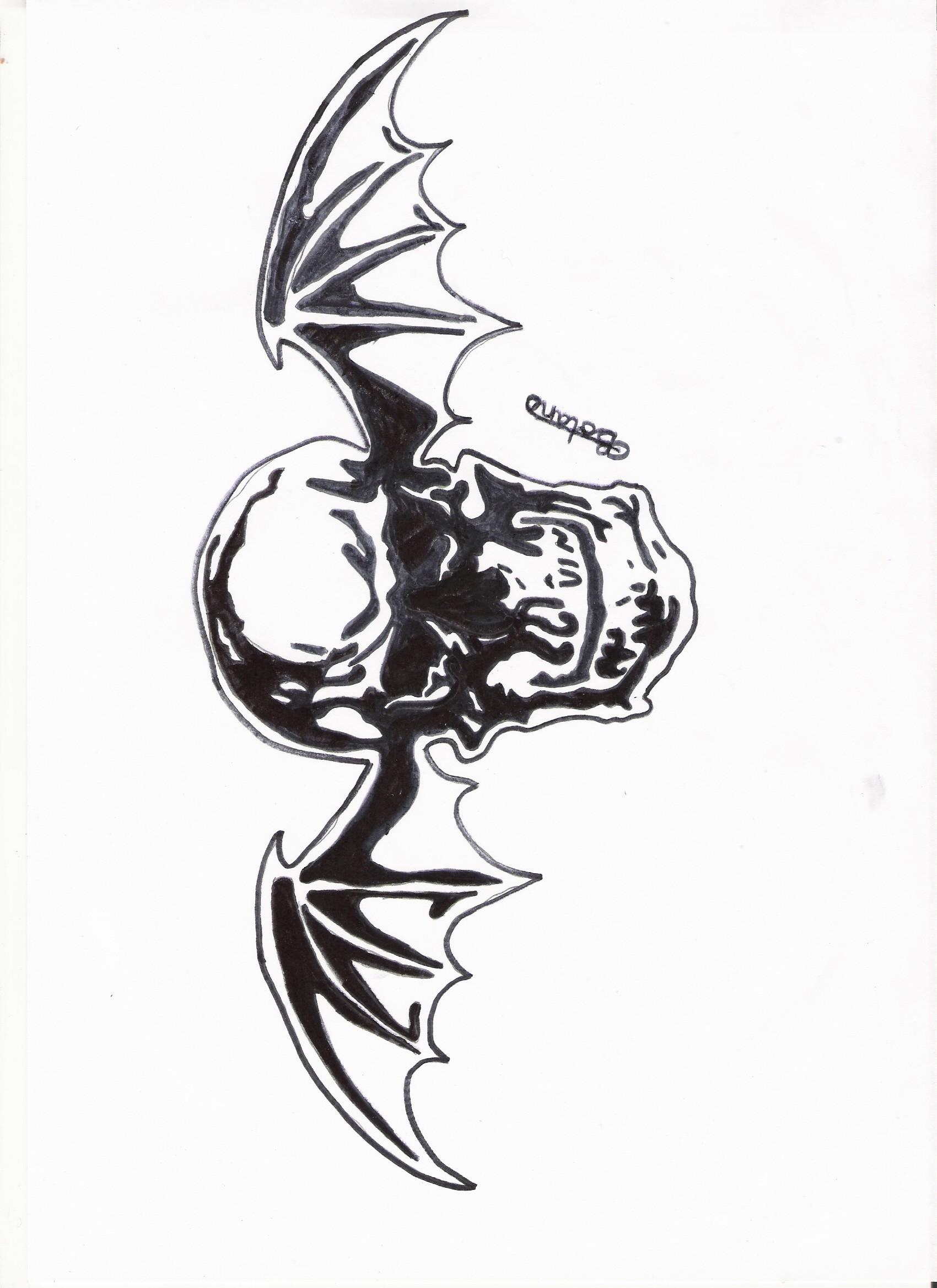 Avenged Sevenfold Deathbat by rockyb123 Avenged Sevenfold Deathbat by  rockyb123