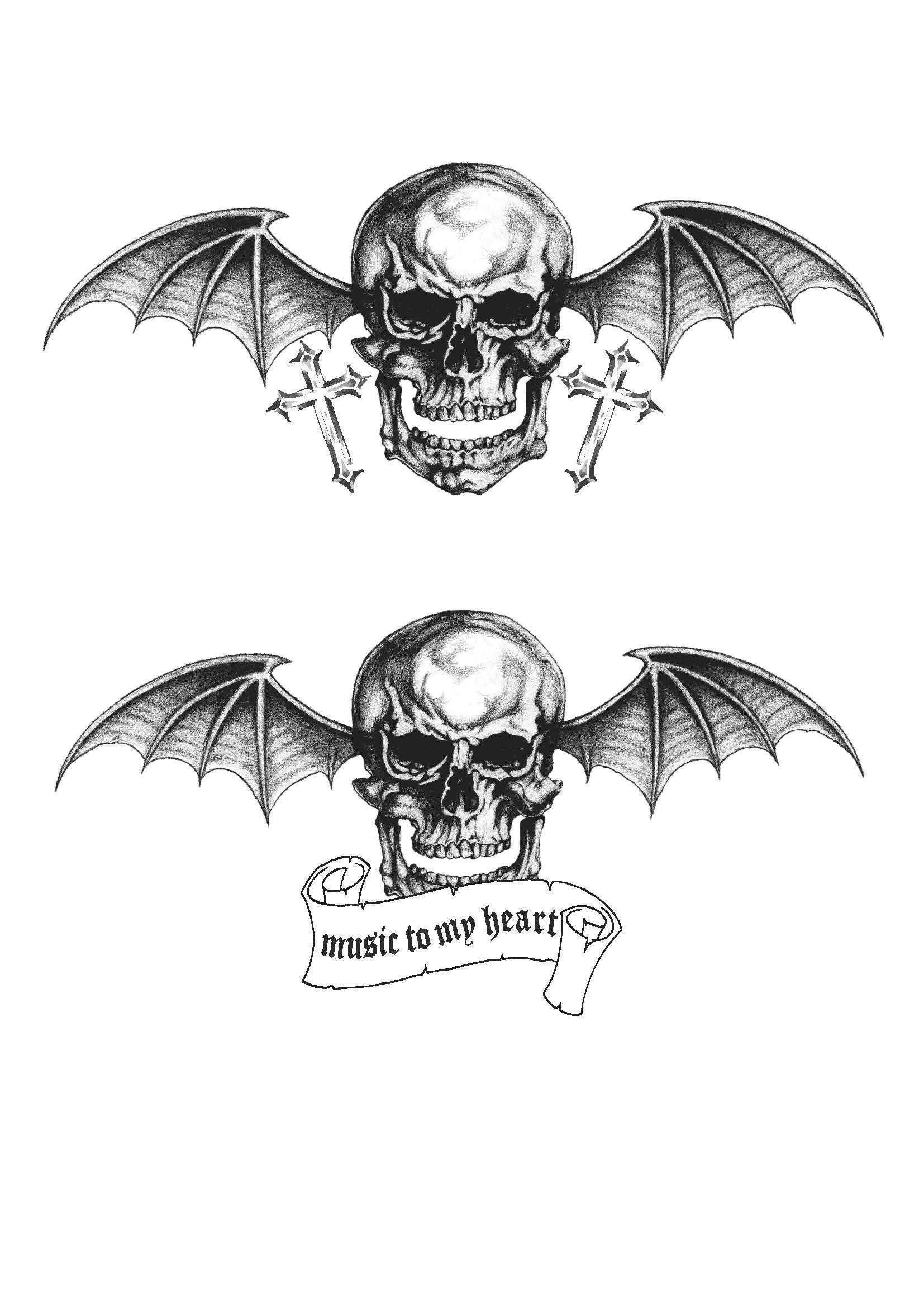 tattoo design A7x ( avegend sevenfold )