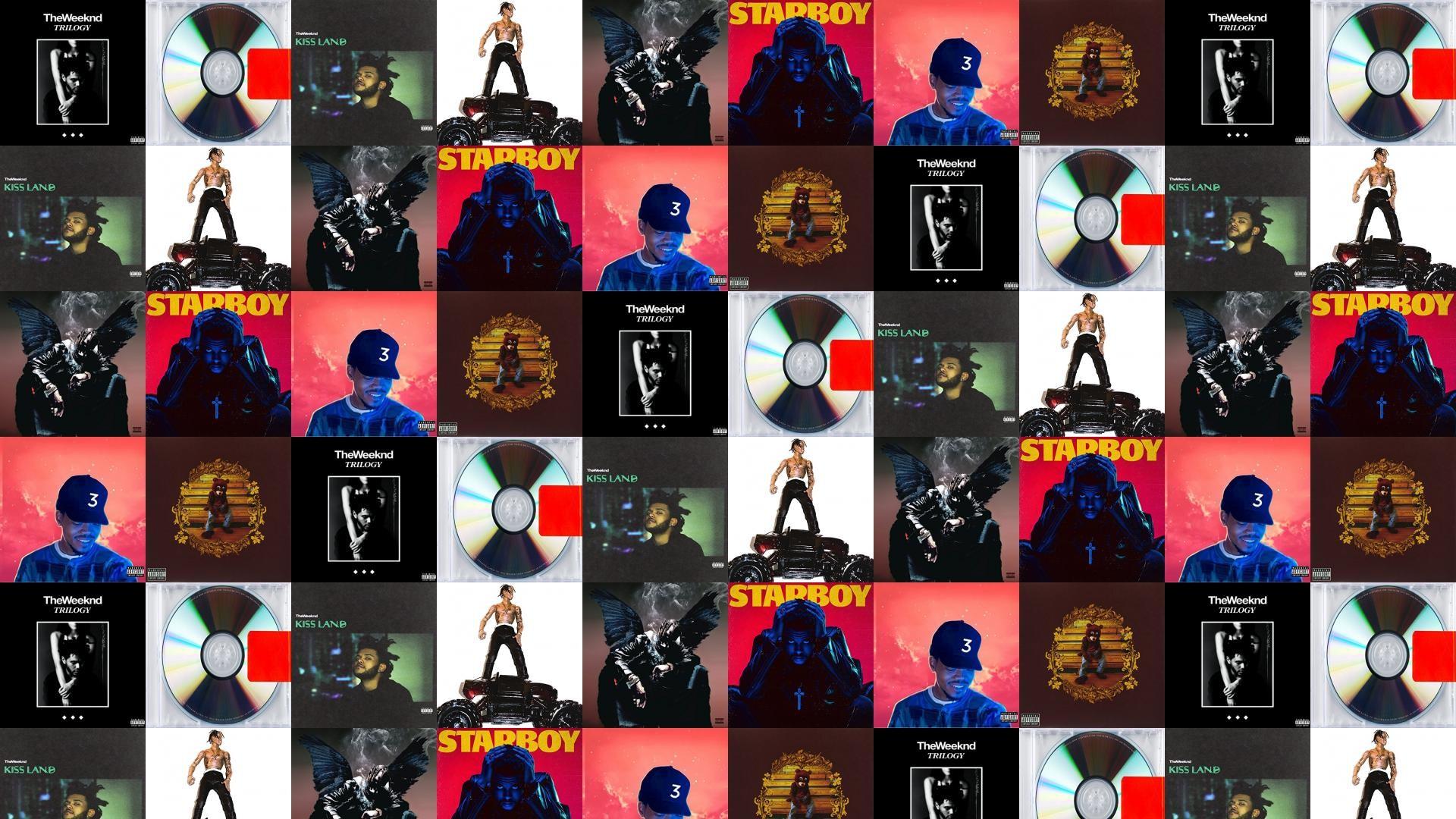 Weeknd Trilogy Kanye Yeezus Kiss Land Travis Scott Wallpaper Â« Tiled  Desktop Wallpaper