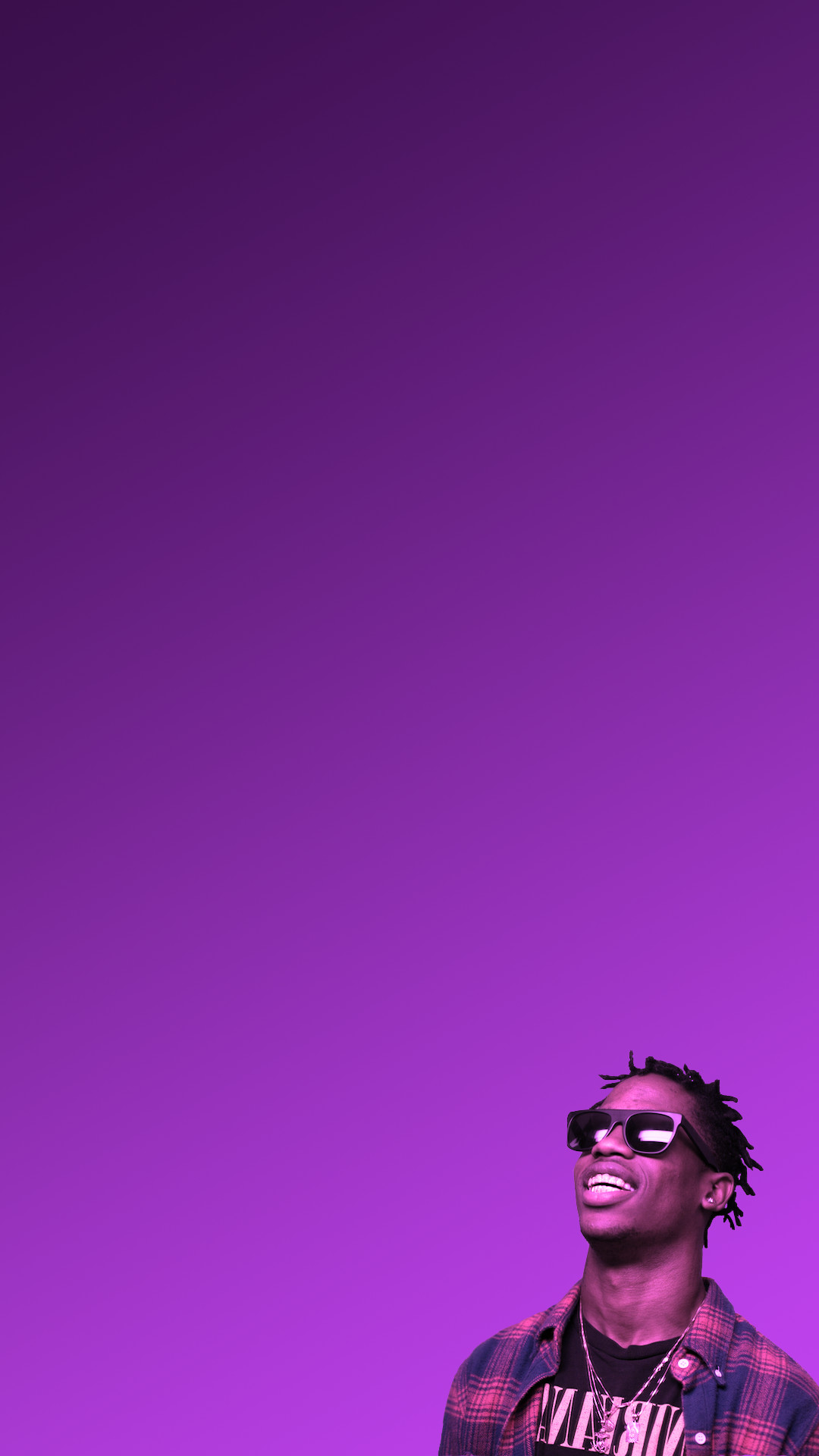 I made an iPhone wallpaper so that Travis can preview your notifications  for you …