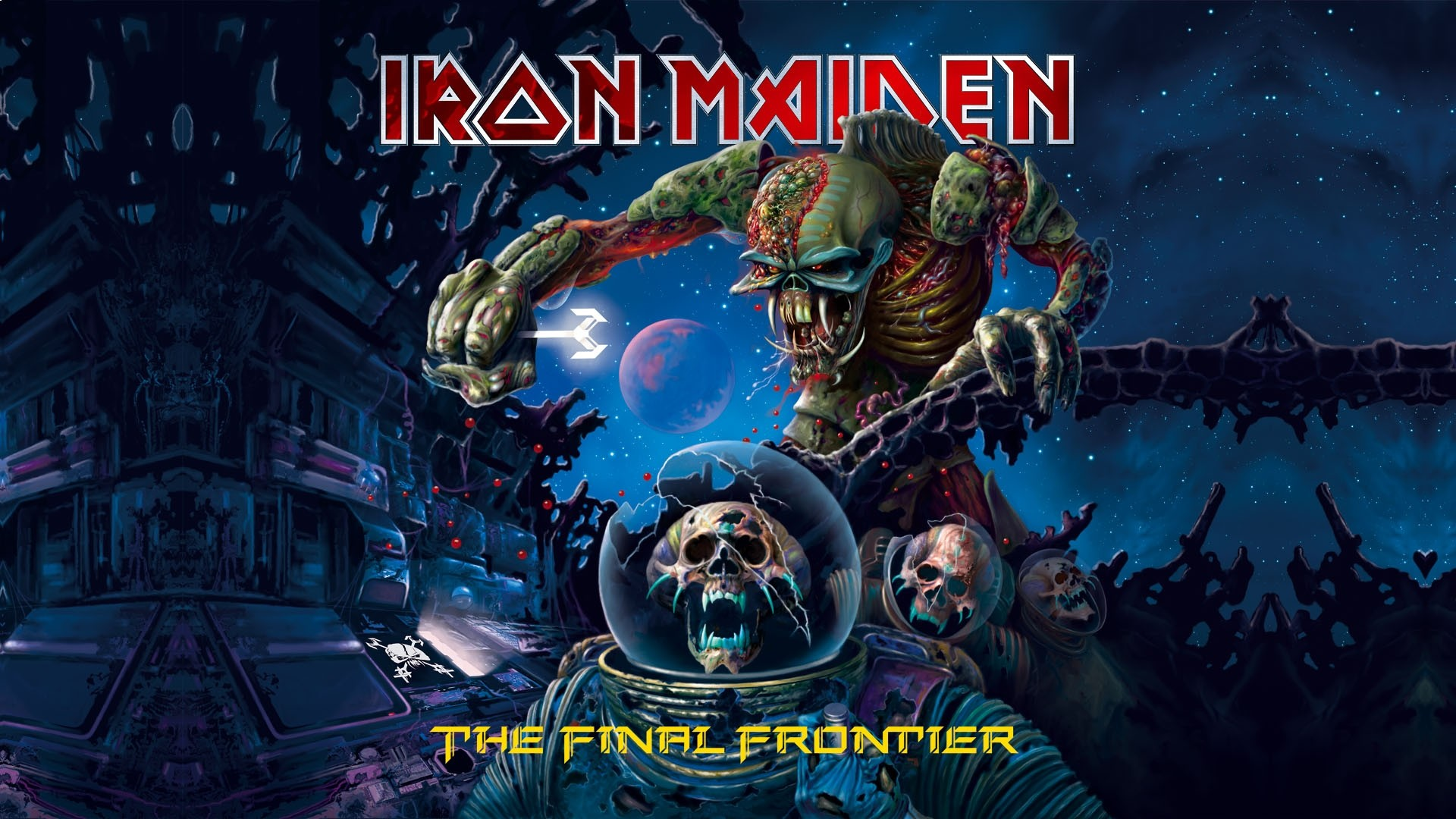 Preview wallpaper iron maiden, undead, twilight, stars, name 1920×1080