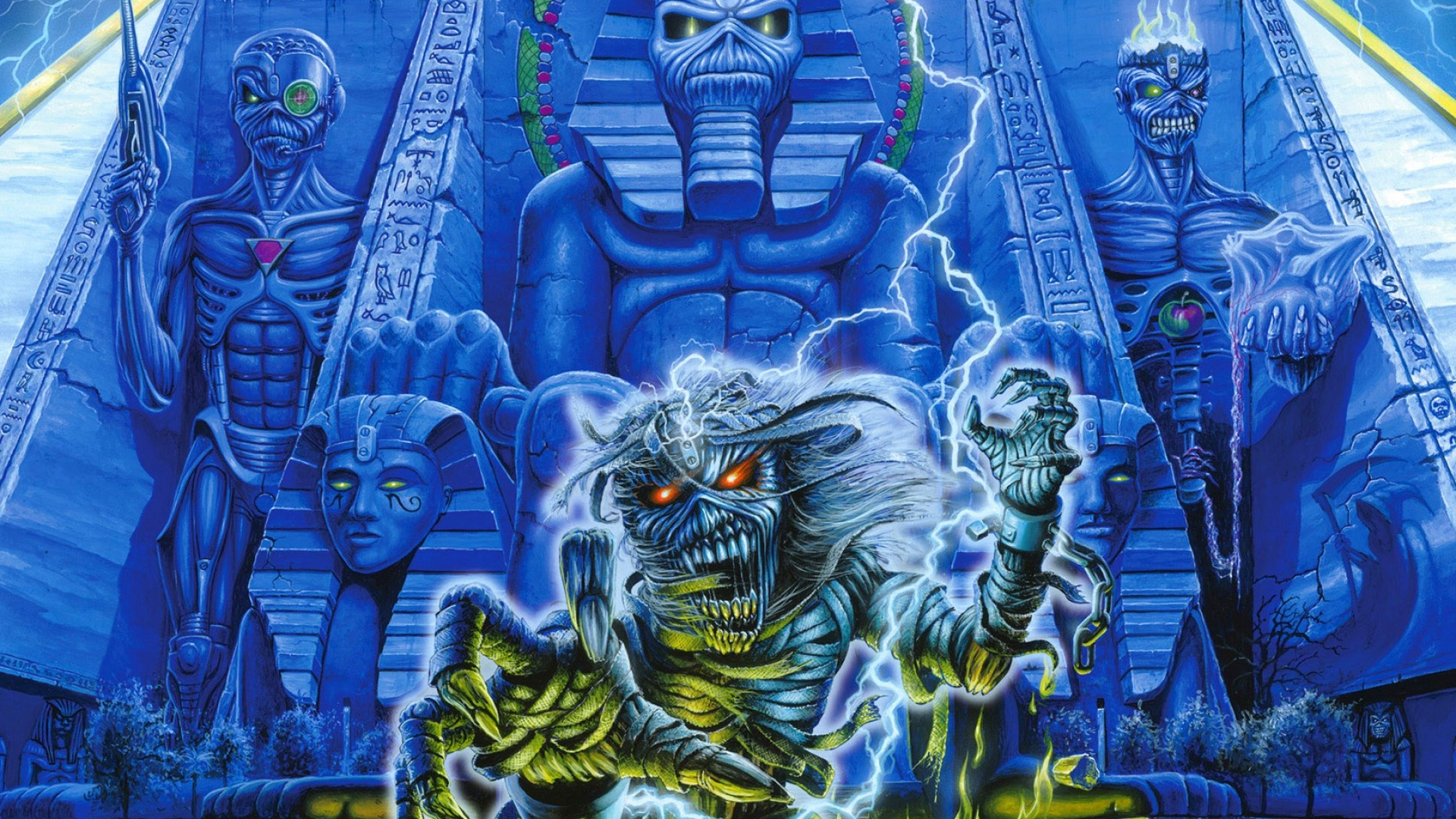 iron maiden, undead, egypt