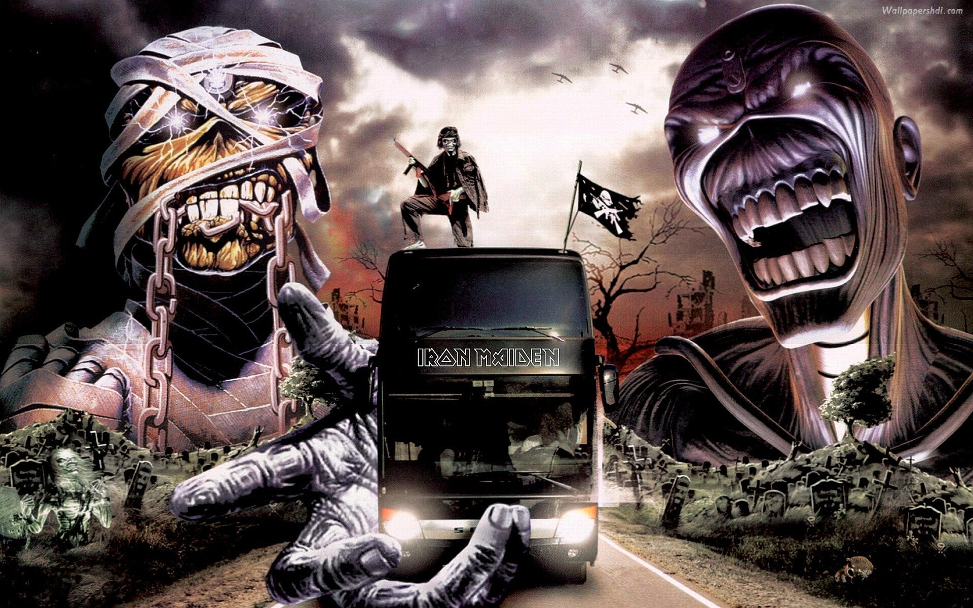 Download the Iron Maiden Tour Bus Wallpaper, Iron Maiden Tour Bus .