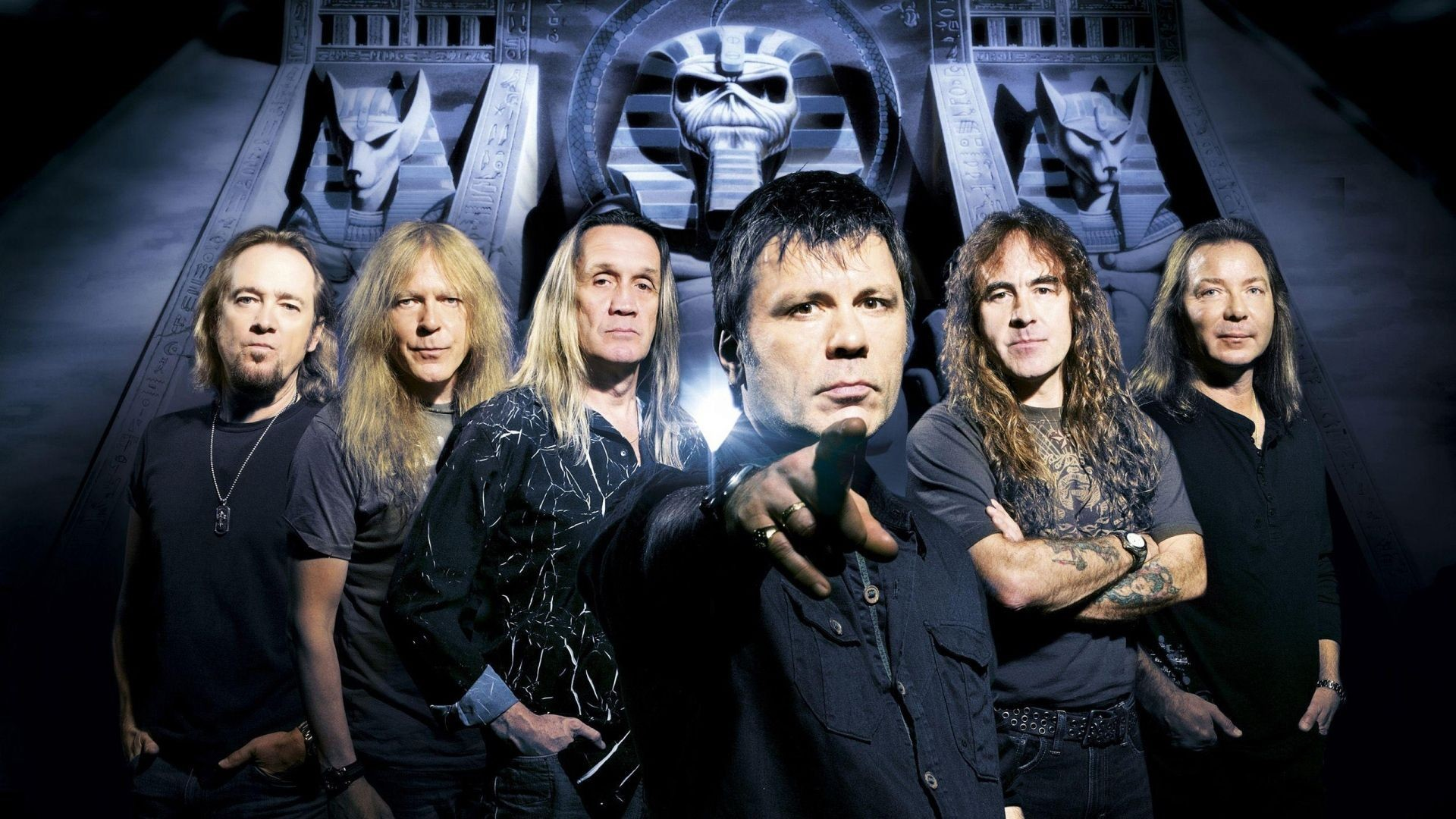 Download Wallpaper Iron maiden, Band, Members, Look .