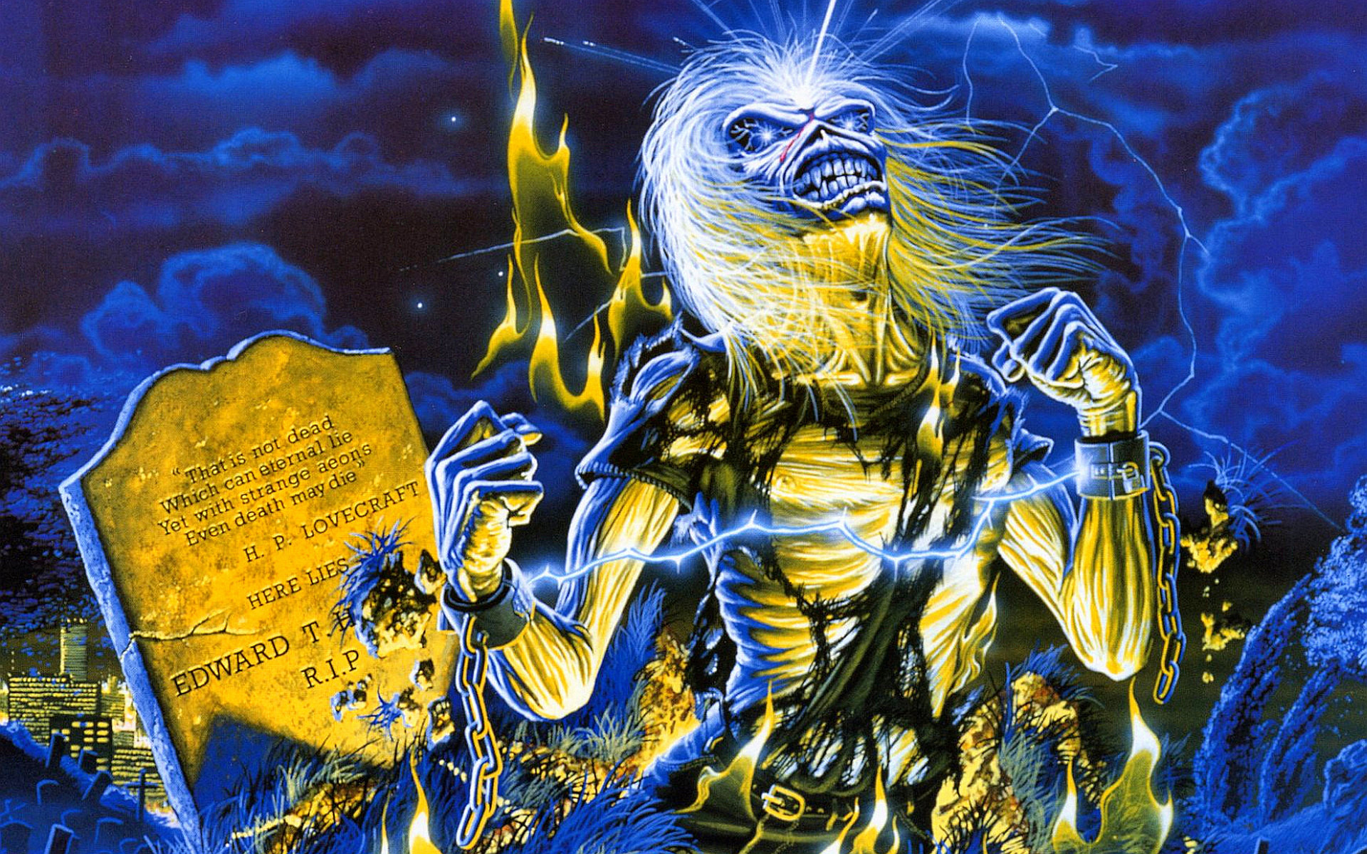 Iron Maiden ~ Live After Death.My favorite Maiden album cover.