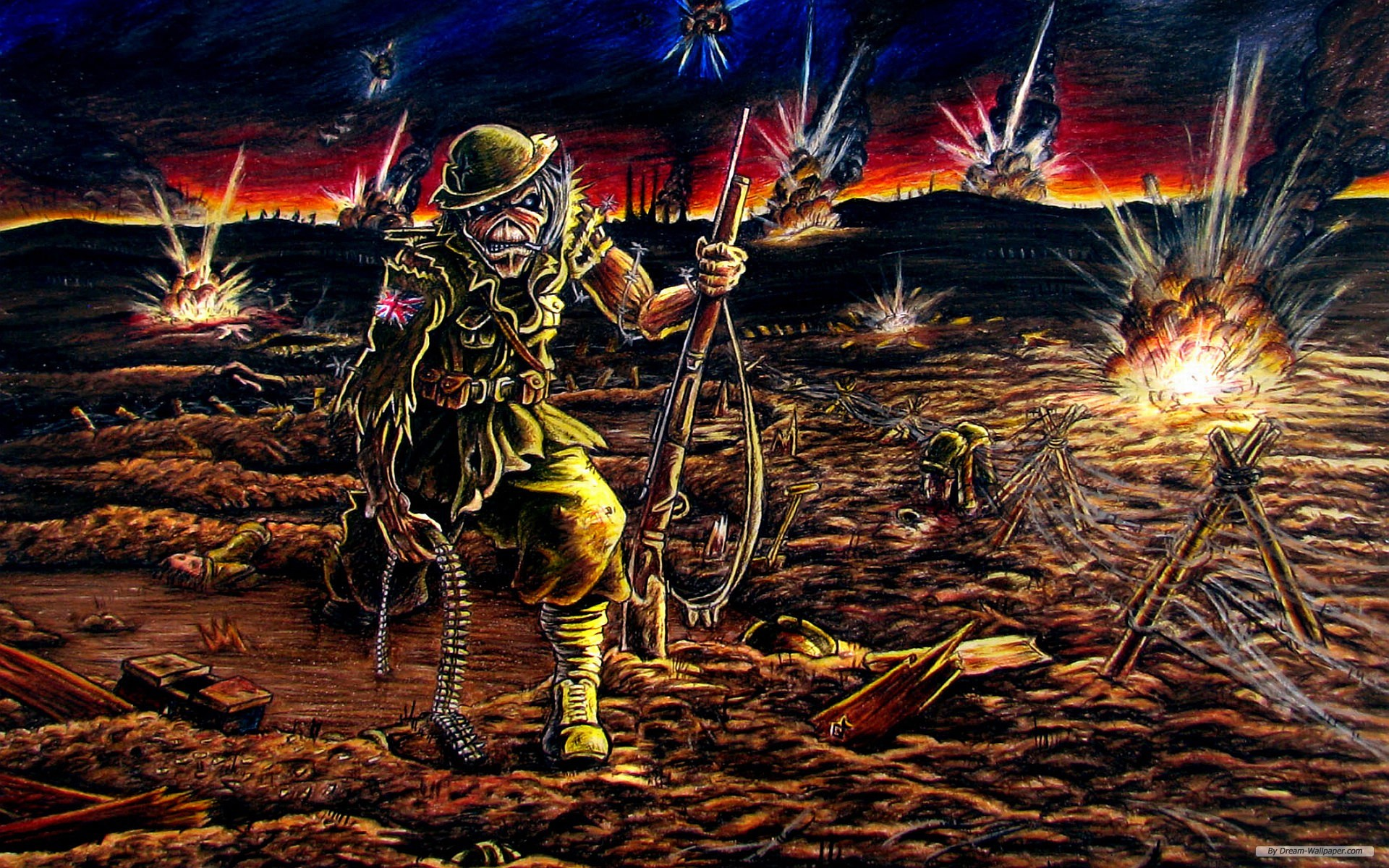 Iron Maiden Backgrounds Group (93 )