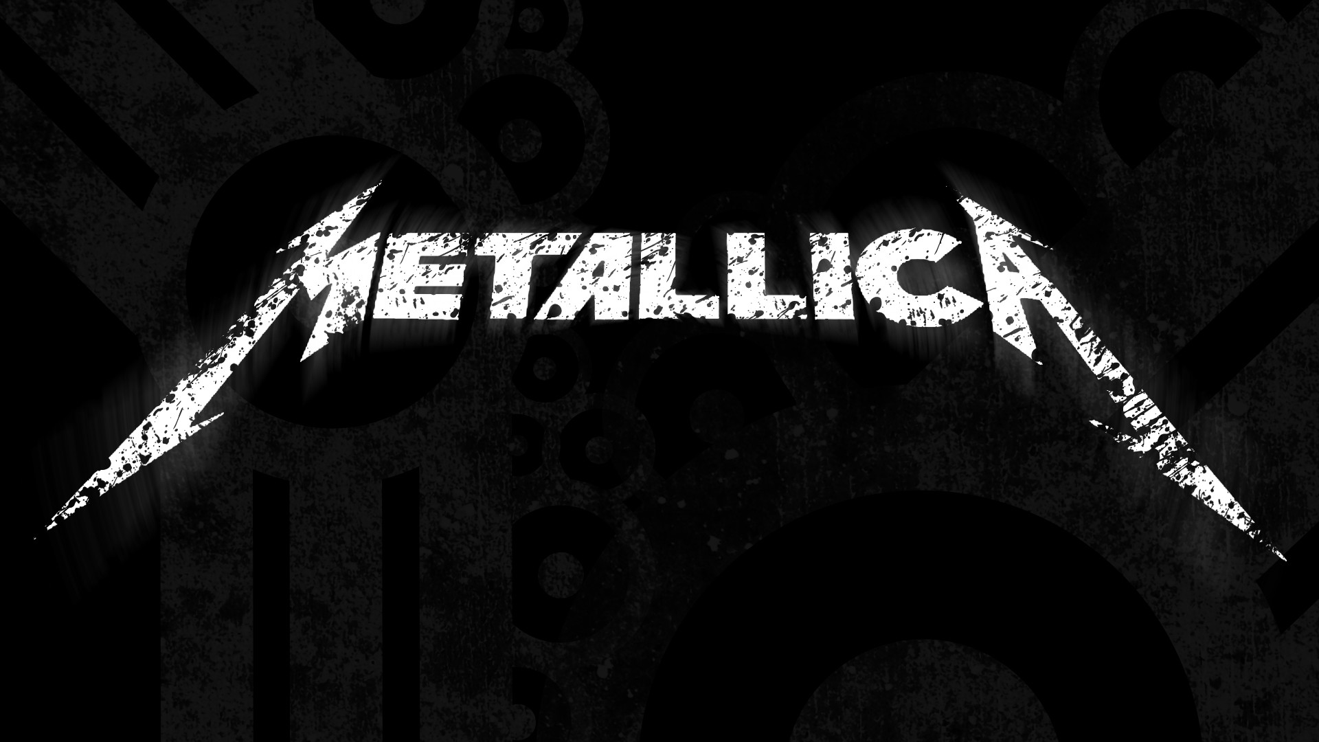 Preview wallpaper metallica, sign, letters, background, font 1920×1080