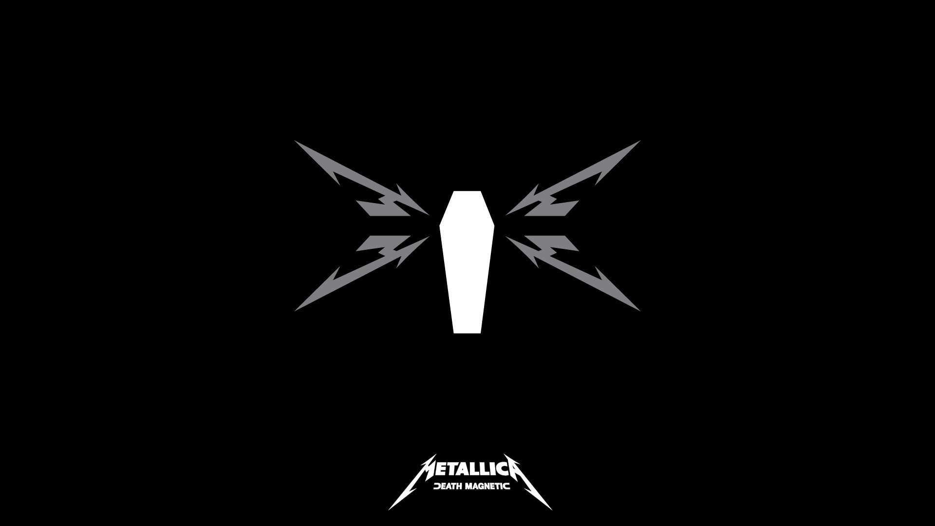 Preview wallpaper metallica, symbol, name, background, picture 1920×1080