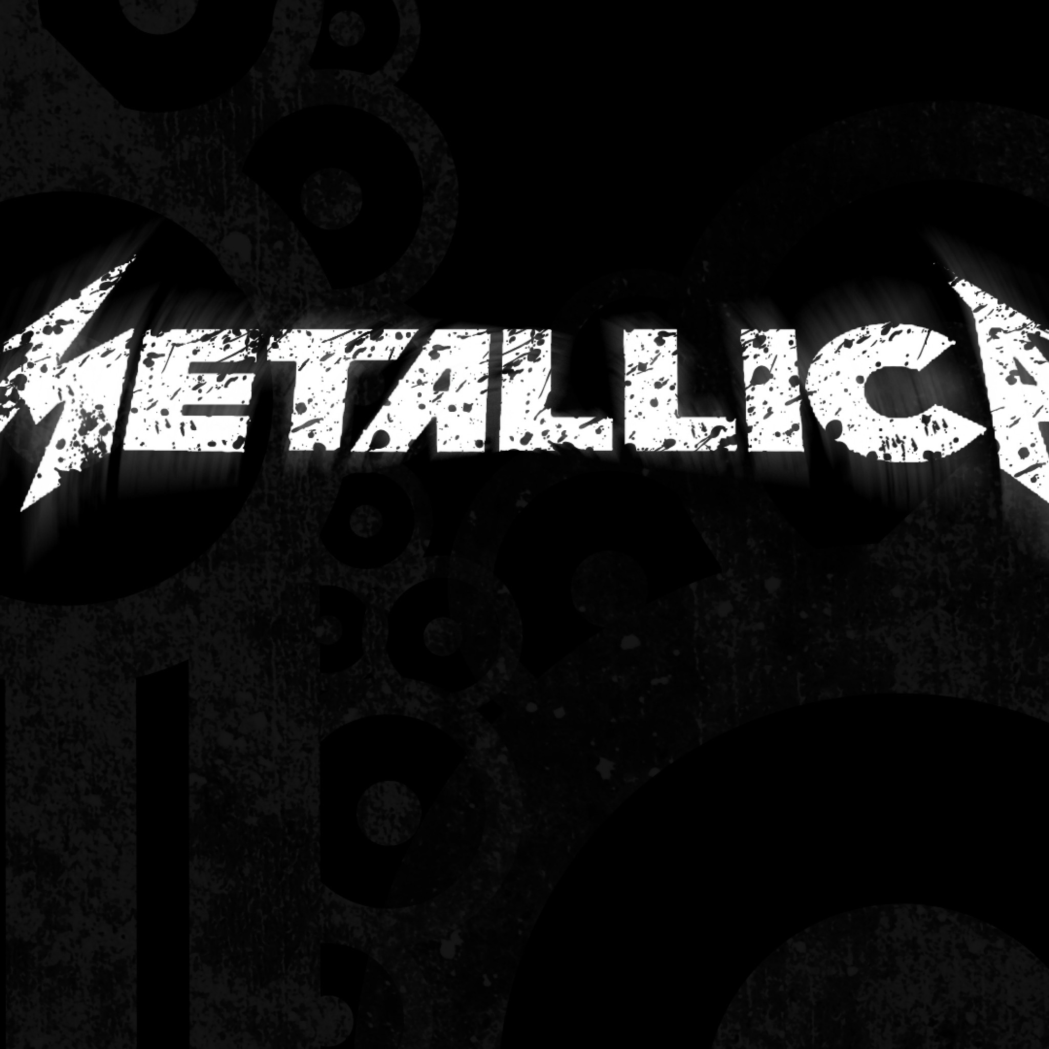 Preview wallpaper metallica, sign, letters, background, font 2048×2048