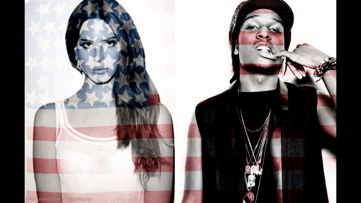 ASAP Rocky Flag with Girl • Rap Wallpapers