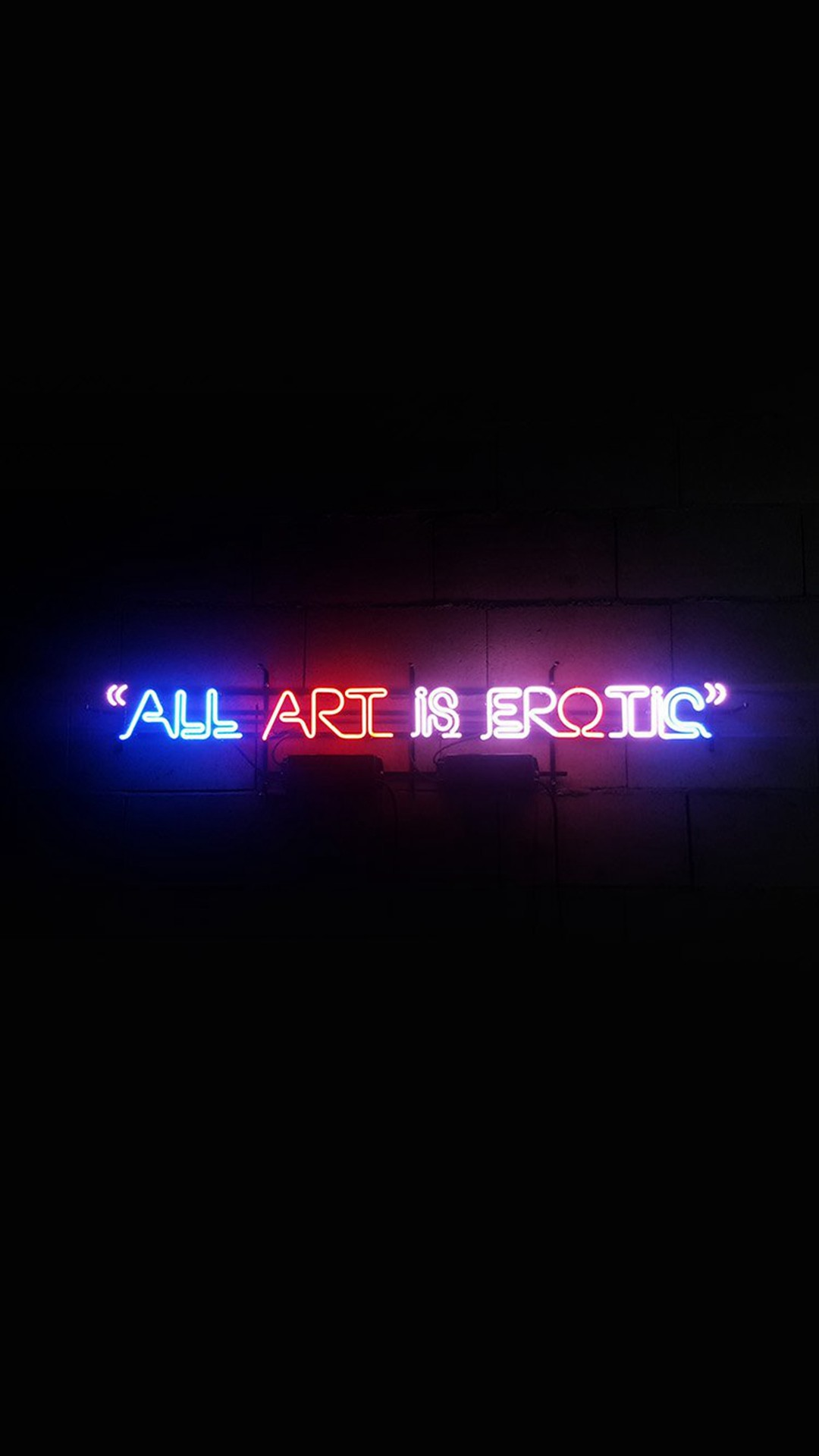 All Art Is Erotic Dark Neon Illustration Art #iPhone #6 #wallpaper