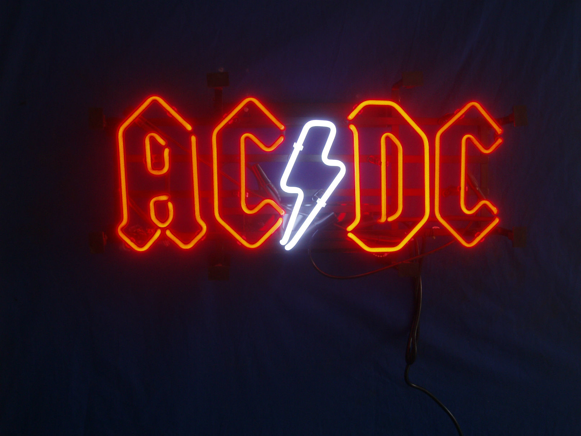 Music – AC/DC Neon Sign Neon Sign Photography Wallpaper