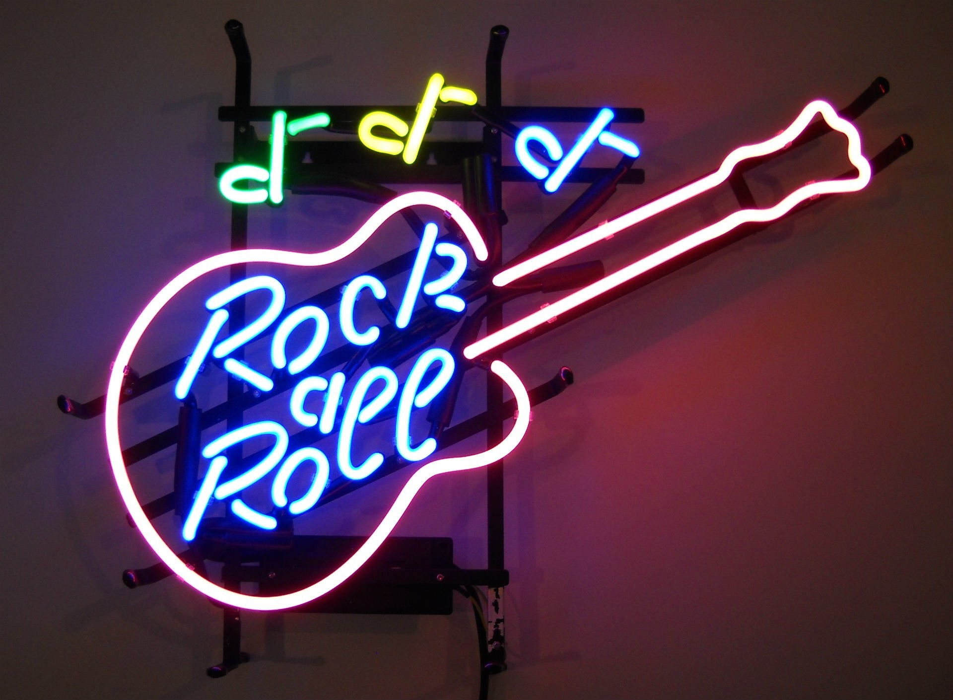 Photography – Neon Neon Sign Sign Photography Guitar Rock & Roll Wallpaper