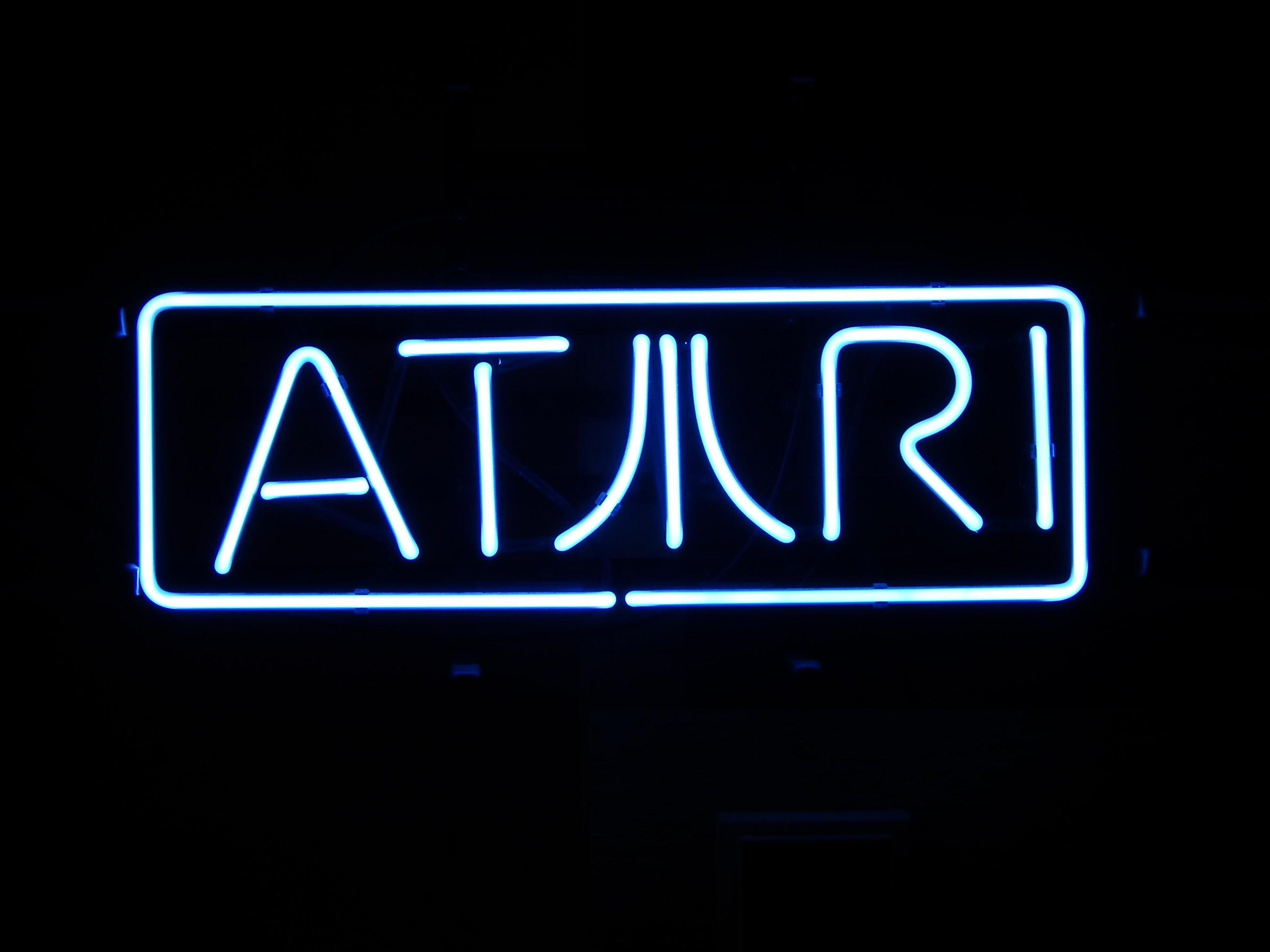 Atari neon sign