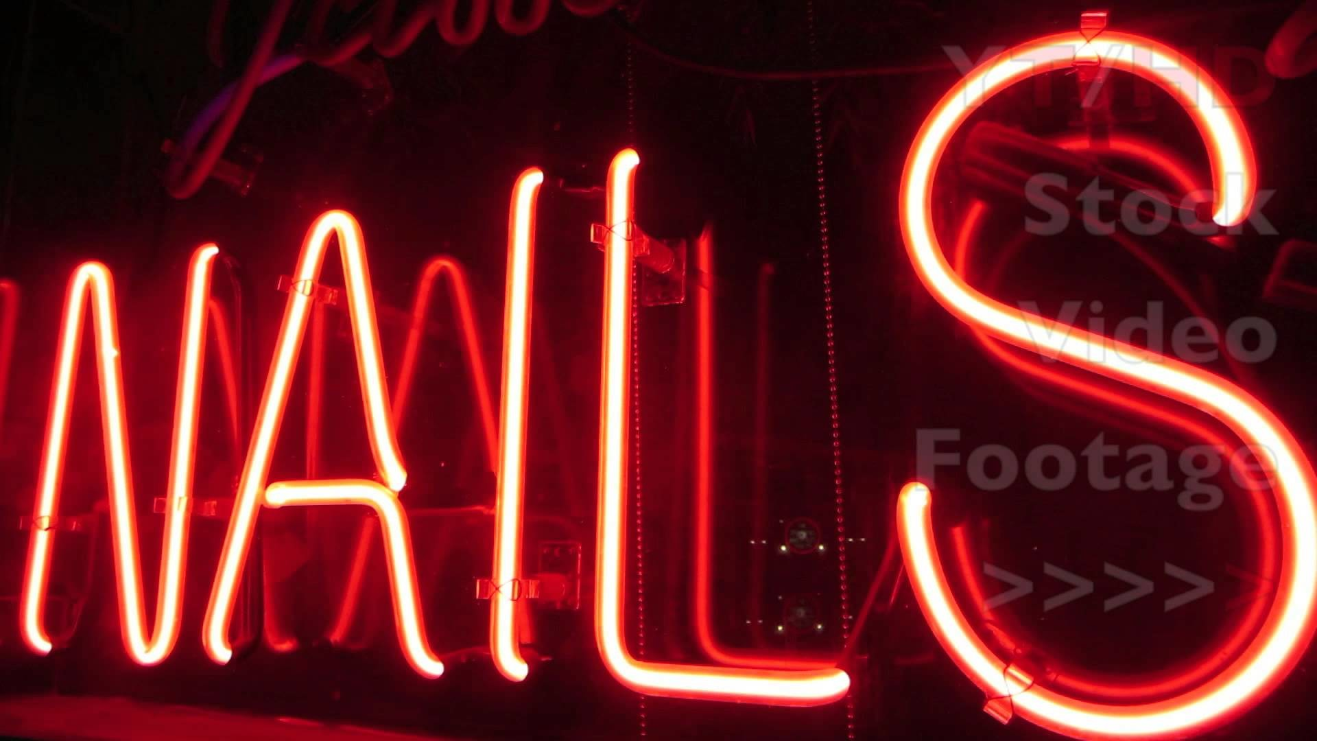 Nail Salon Spa & Nails Neon Light Signs to Advertise Local Business | HD  Stock Video Footage – YouTube