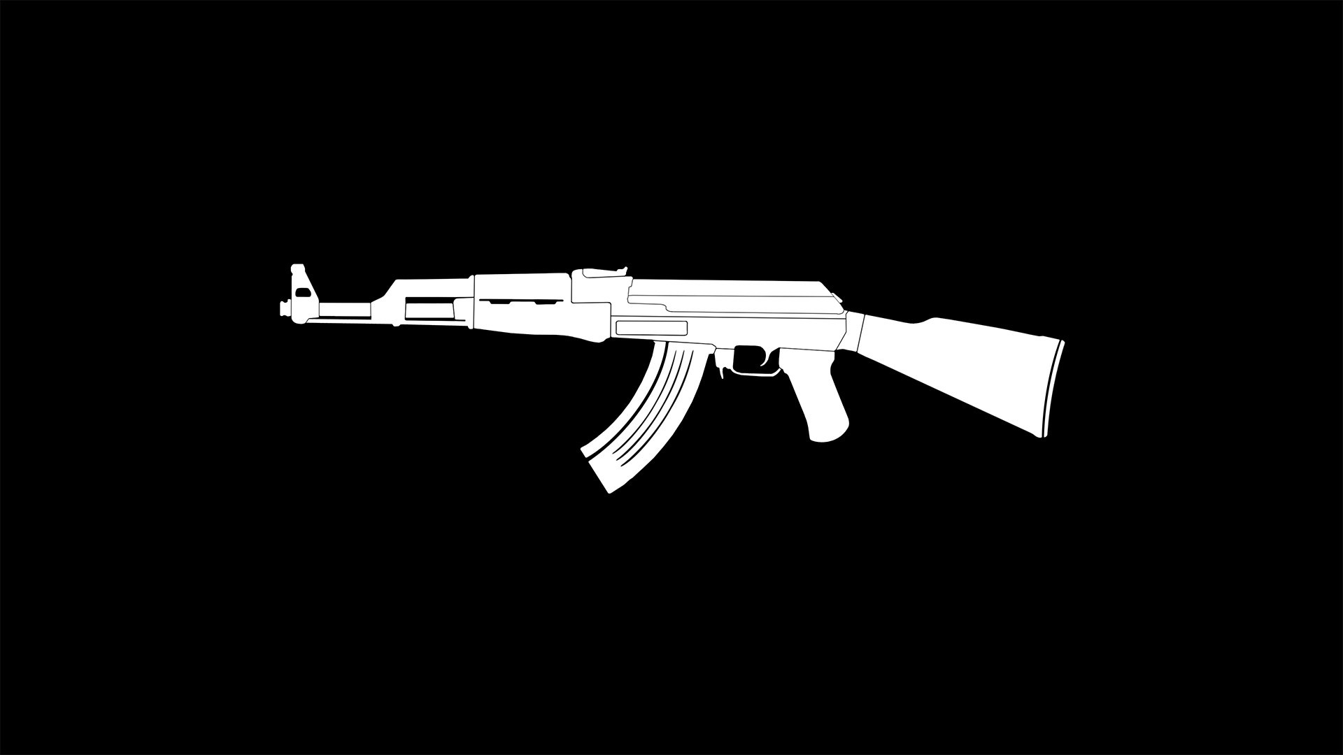 black ak47 wallpaper