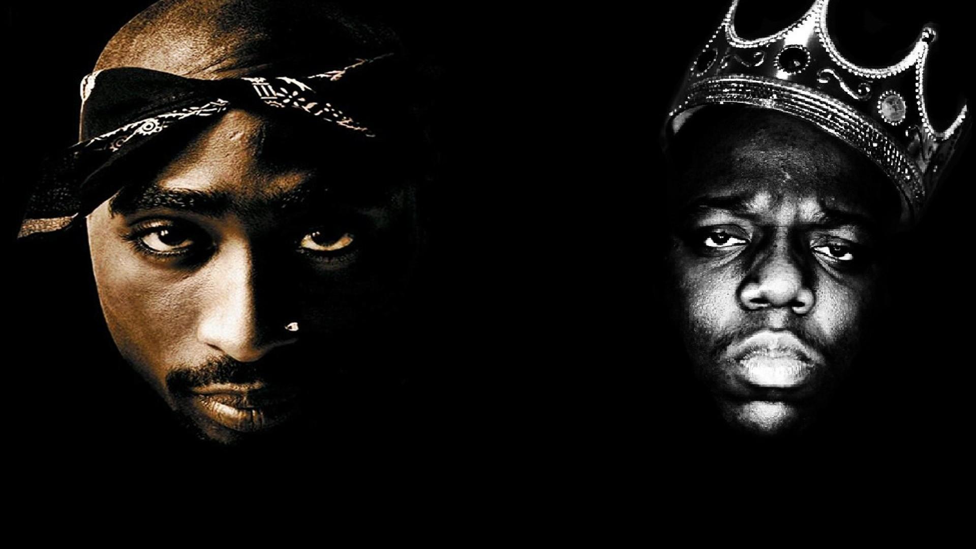 TUPAC BIGGIE SMALLS gangsta rapper rap hip hop f wallpaper   .