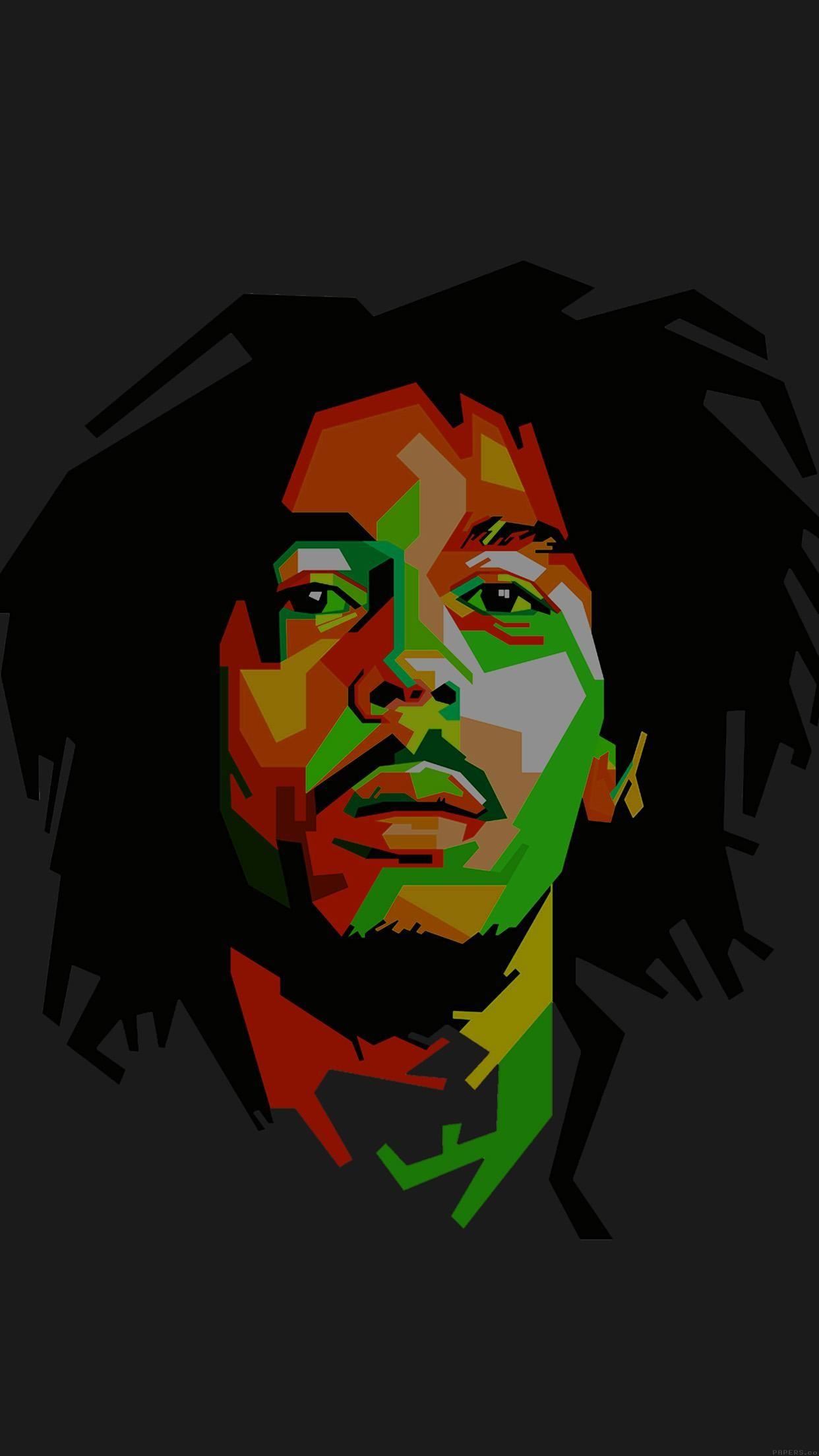 Bob Marley Dark Art Illust Music Reggae Celebrity