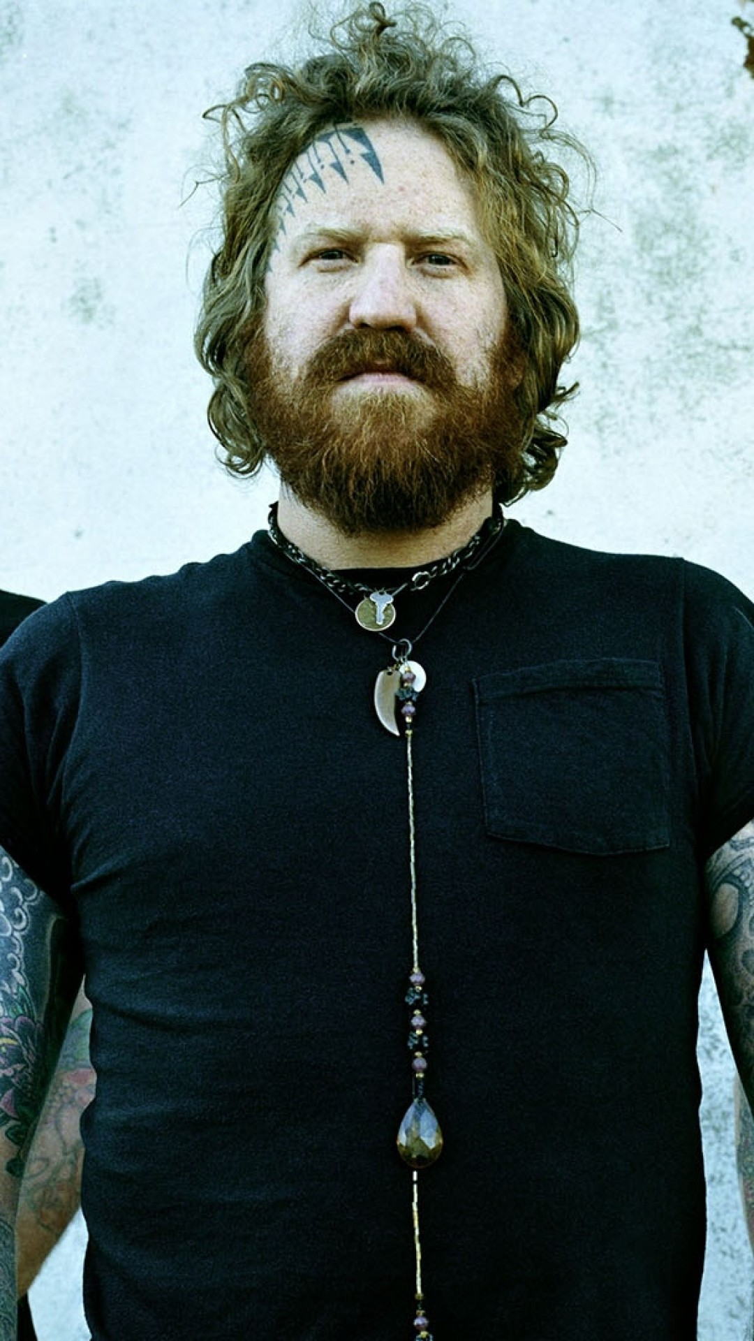 Wallpaper mastodon, earrings, t-shirts, chain, beard