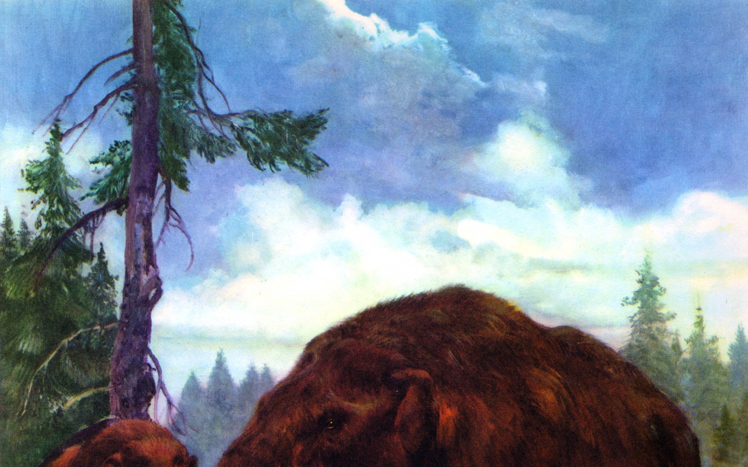 paintings prehistoric mastodon zdenek burian 2574×3090 wallpaper Art HD  Wallpaper