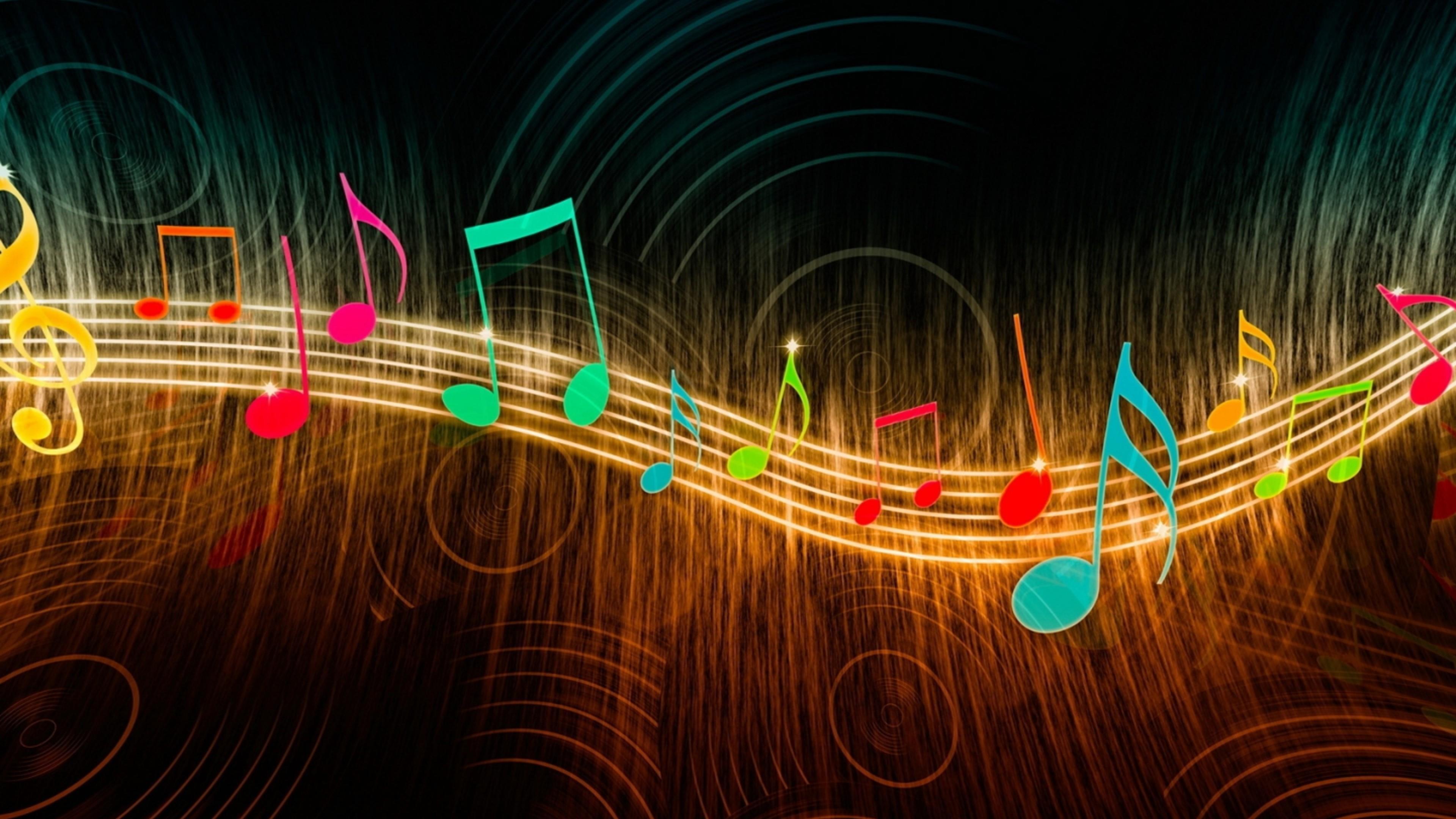 UltraHD wallpaper icon Colorful music note digital art wallpaper