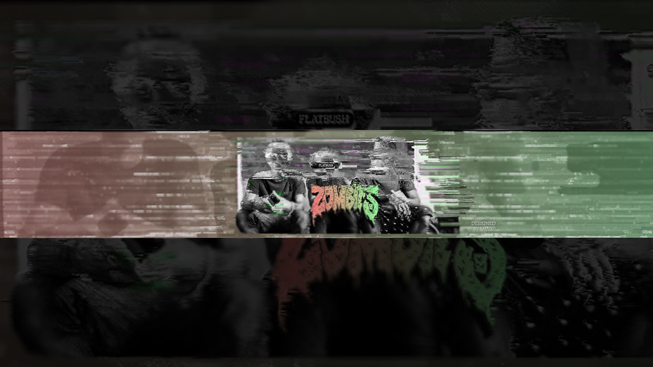 … Flatbush Zombies – Glitch YouTube Banner by SaperSpoas