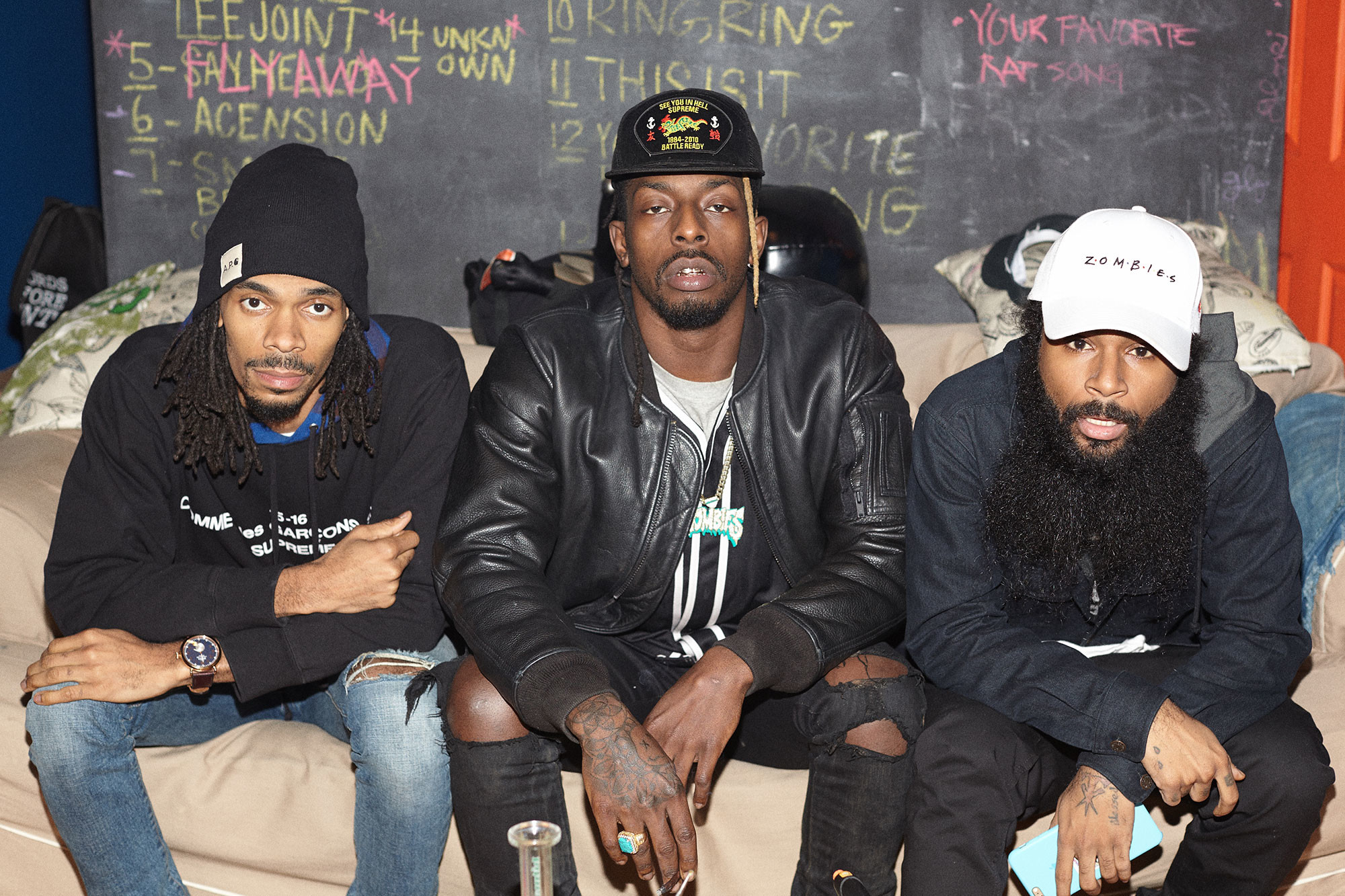 """Meechy Darko, Erick """"The Architect"""" Elliott and Juice make up the  Brooklyn-born rap trio The Flatbush Zombies. The name stems from an early,  somewhat devout …"""
