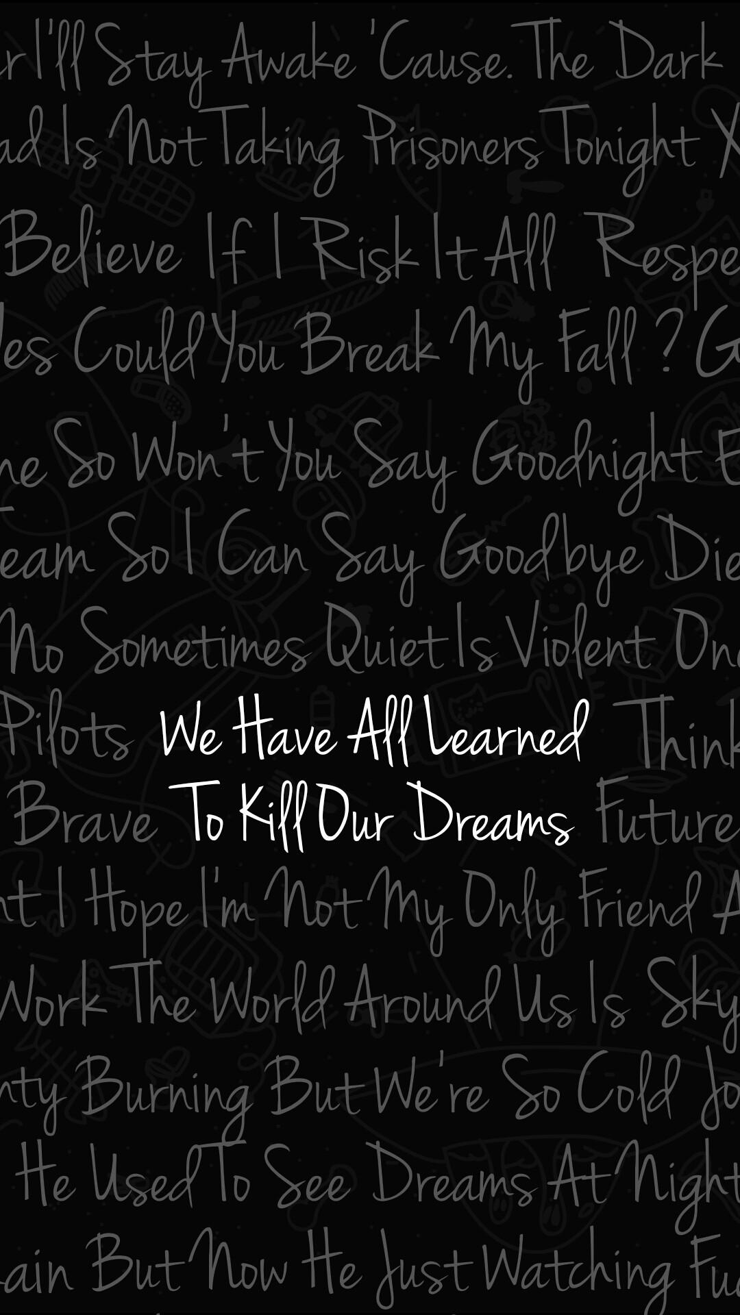 Twenty One Pilots Wallpaper Of Best Lyrics Tyler Joseph Josh Dun 21 Pilots  Skeleton Clique