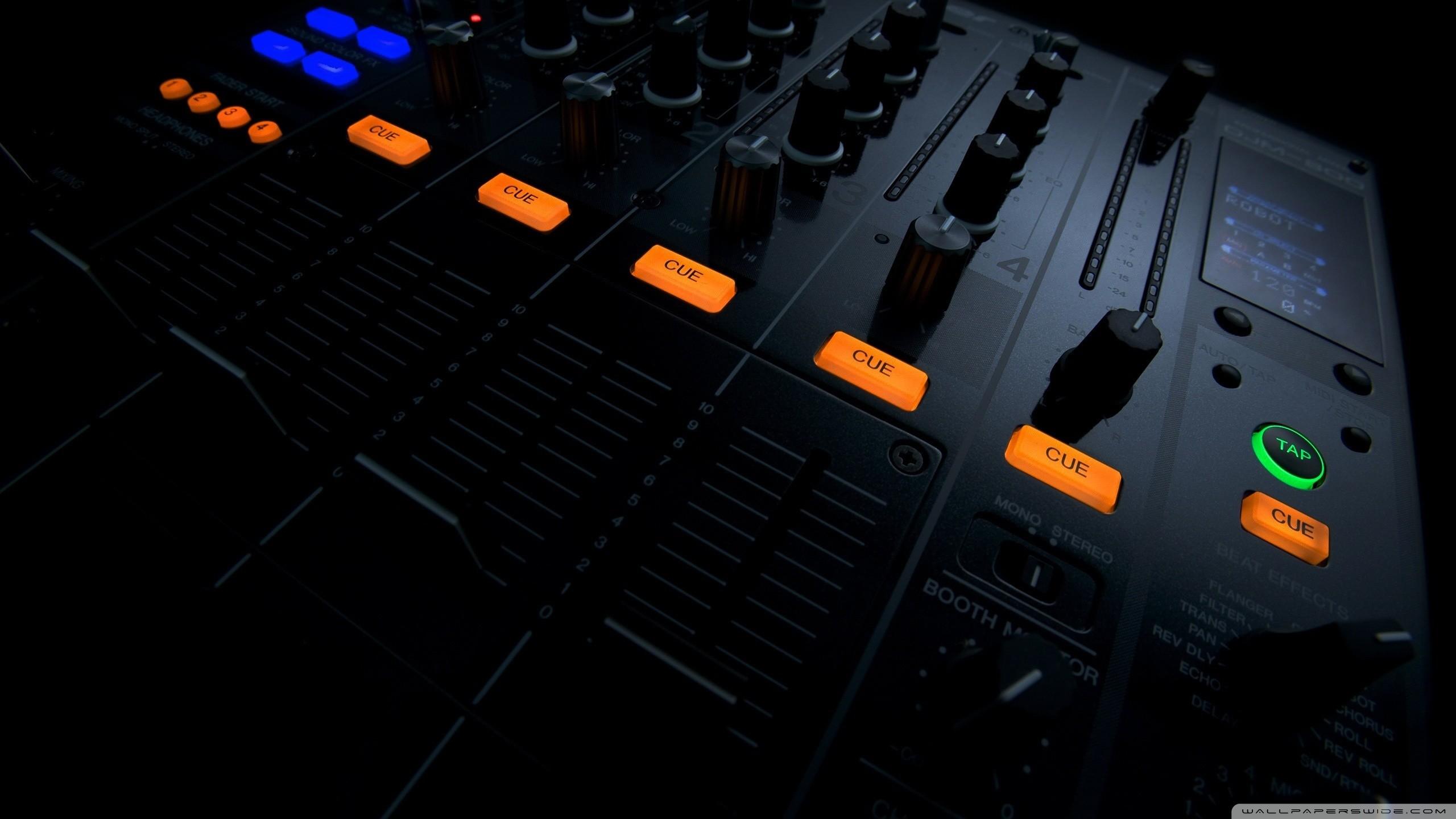 black music artistic studio mixing tables techno turntables effects house  music Pioneer DJ djm 800 / Wallpaper