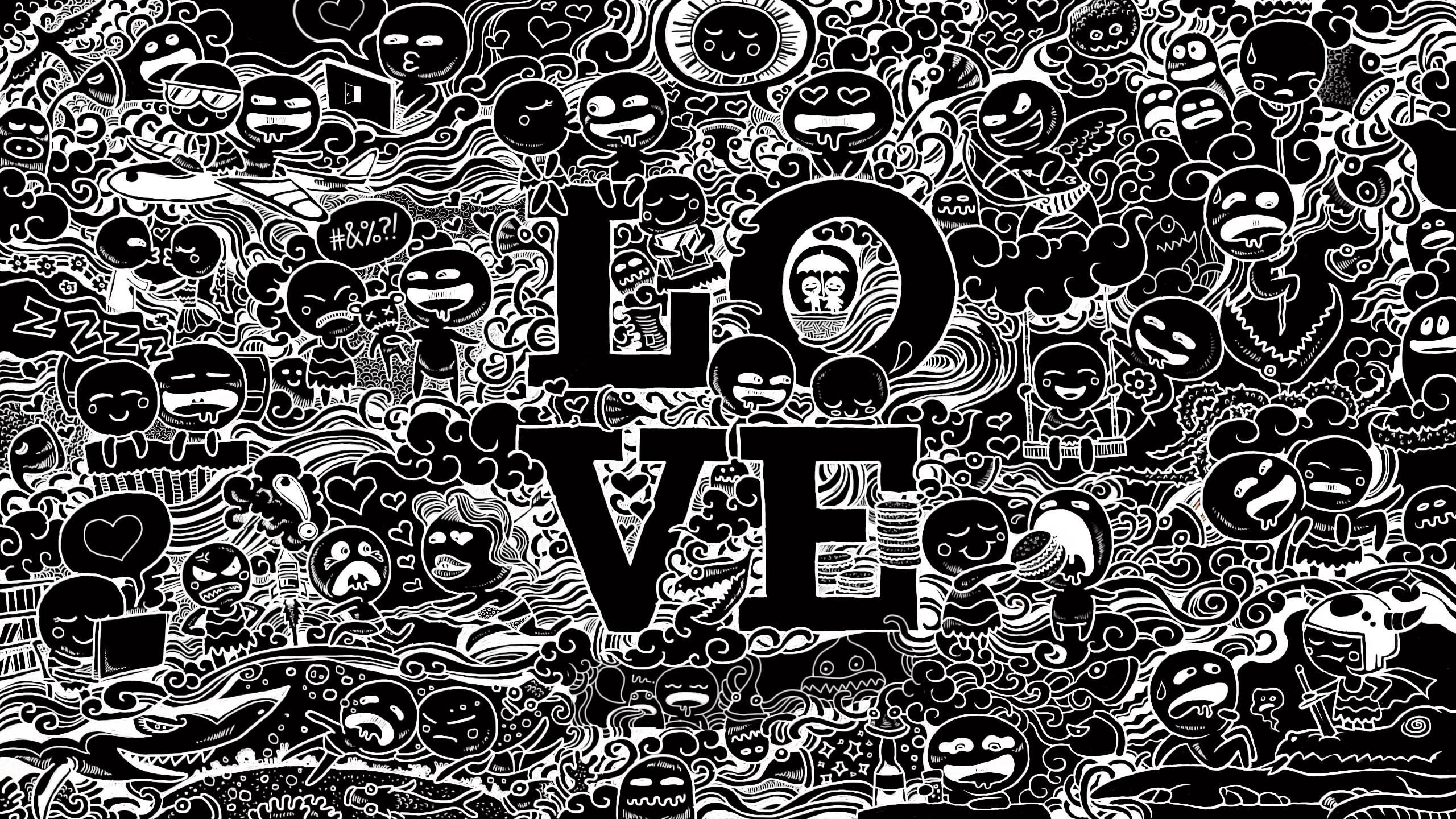 Download free doodle wallpaper.