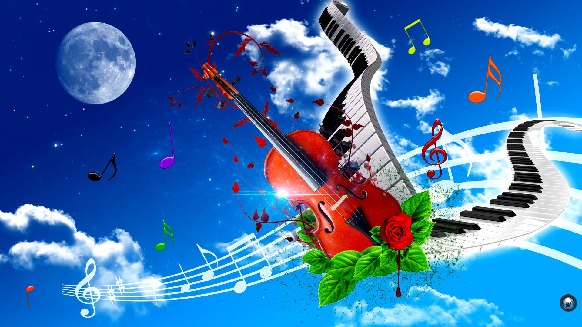 Violin And Piano Art Tone Wallpaper HD #6467 Wallpaper | Wallpaper .