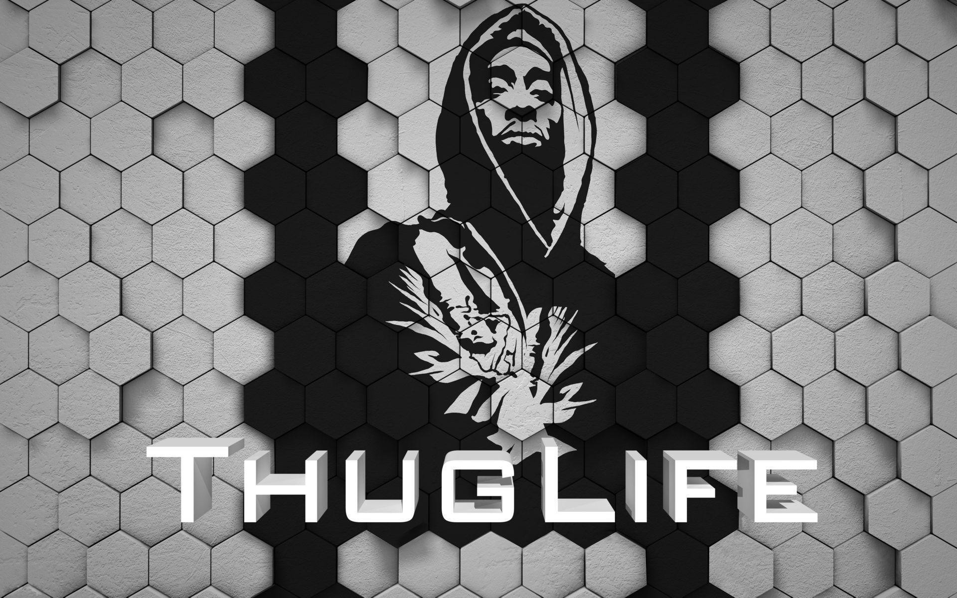 Images For > Tupac Thug Life Wallpaper