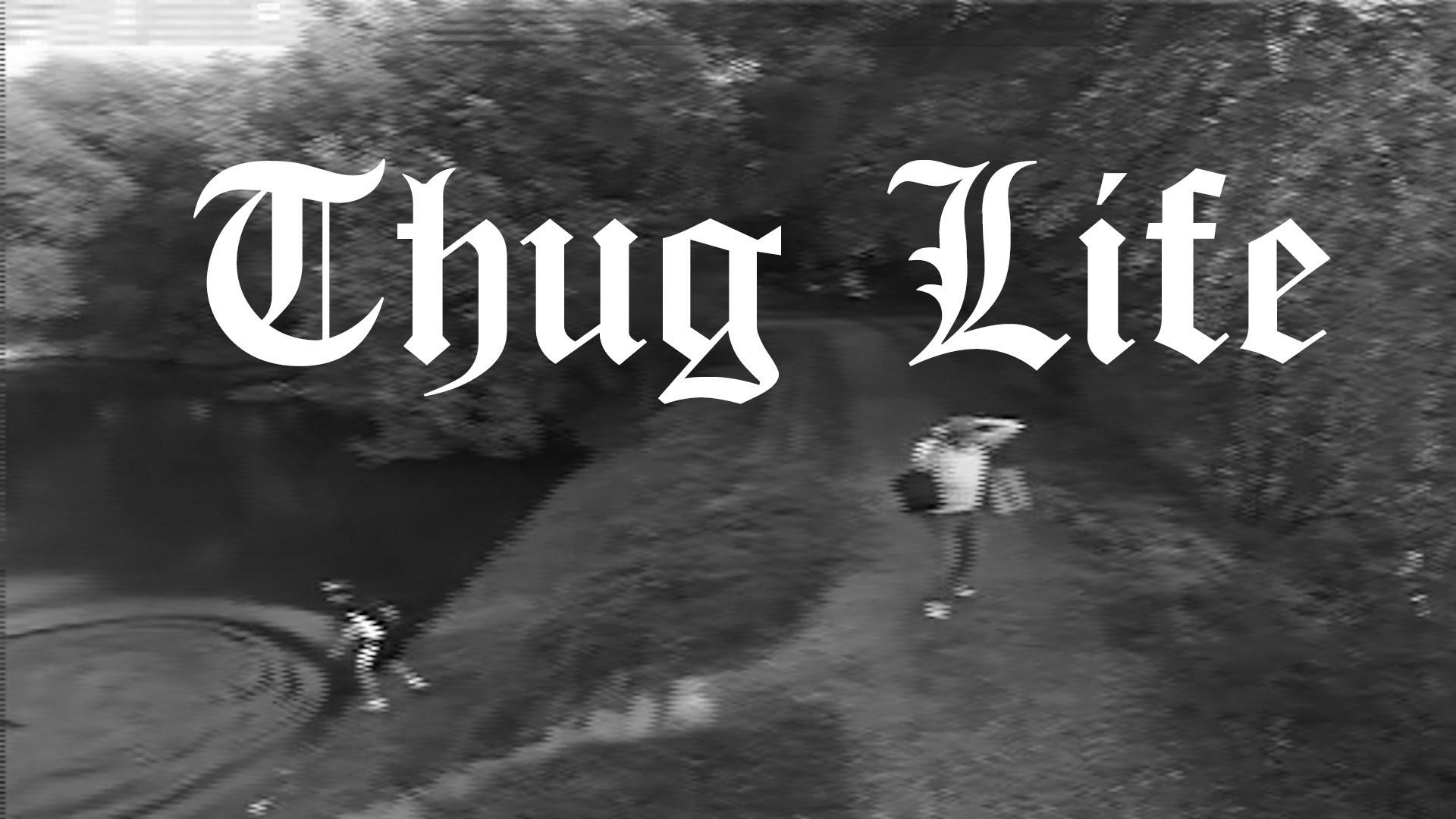 Thug Life ( The cyclist and the fisherman )