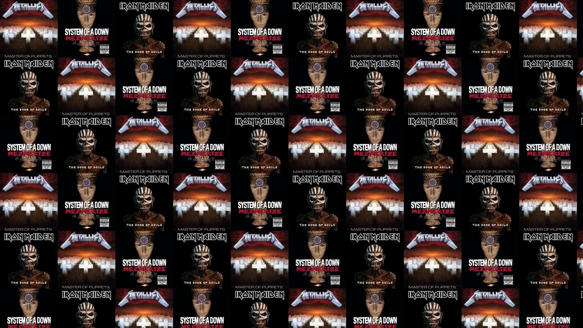 Metallica Master Puppets System Down Mezmerize Iron Maiden Wallpaper Â«  Tiled Desktop Wallpaper