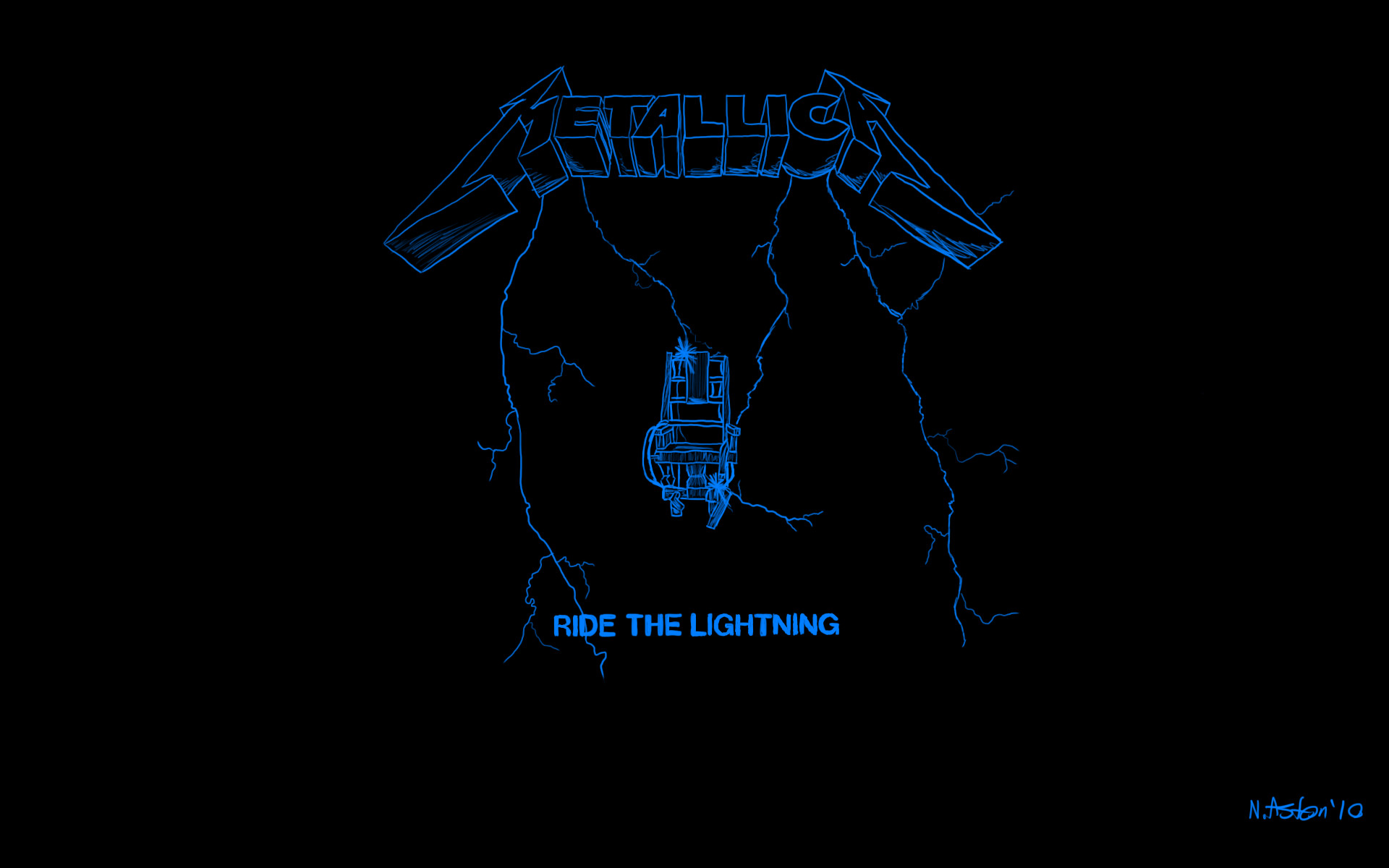 Ride The Lightning Wallpaper by nige111 Ride The Lightning Wallpaper by  nige111