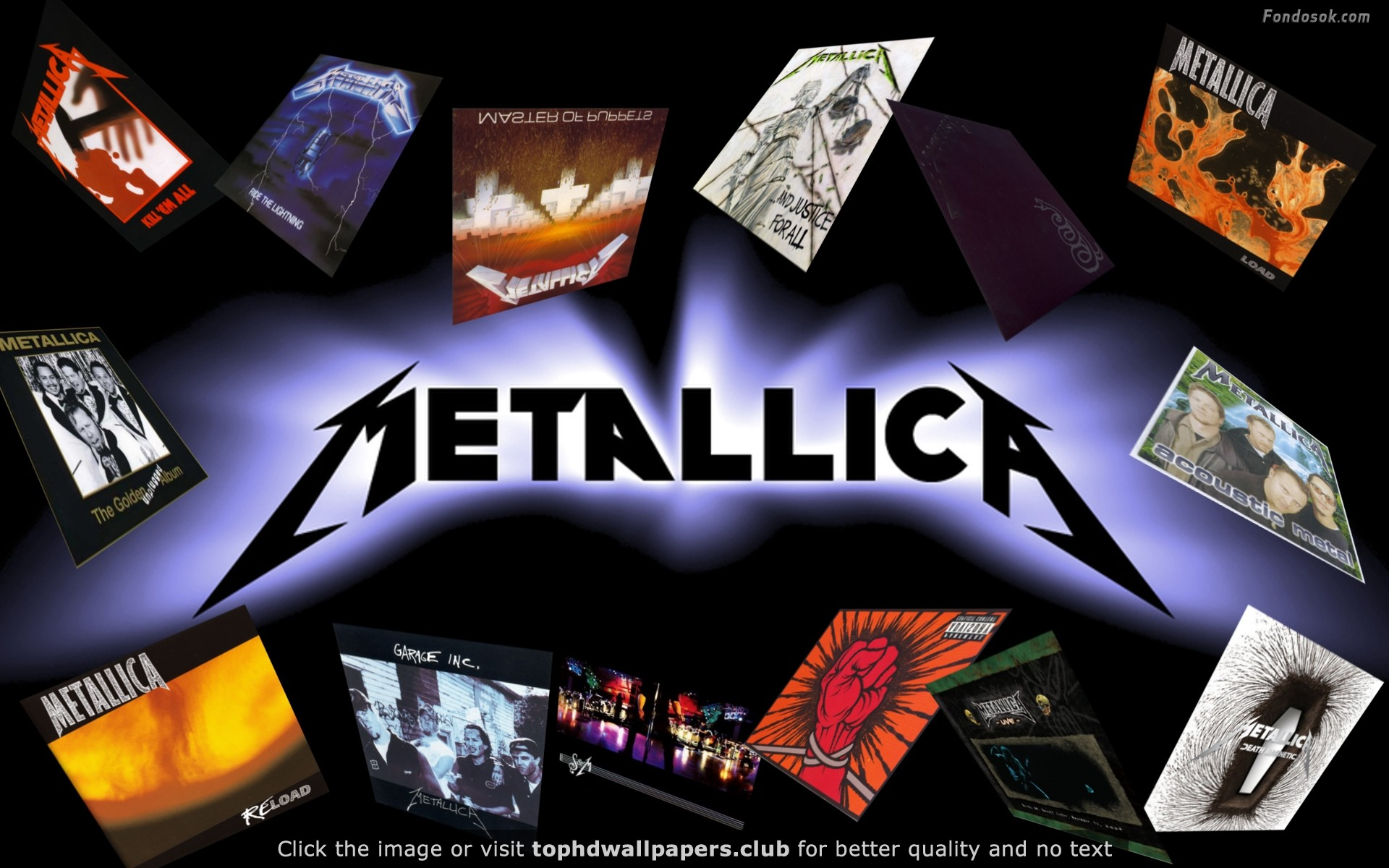 Metallica Albums HD wallpaper for your PC, Mac or Mobile device