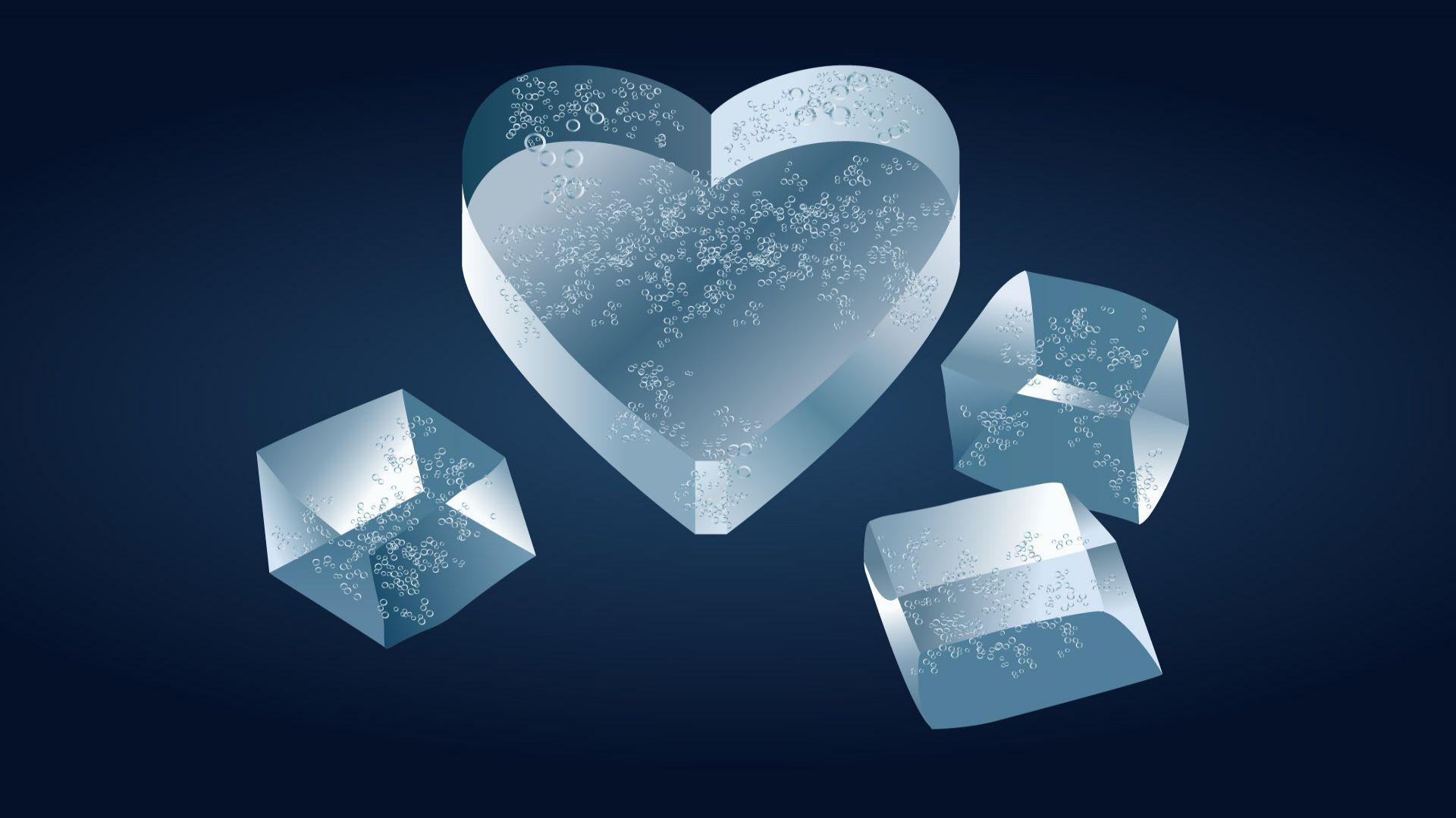 Heart shaped ice cube wallpaper – 479869