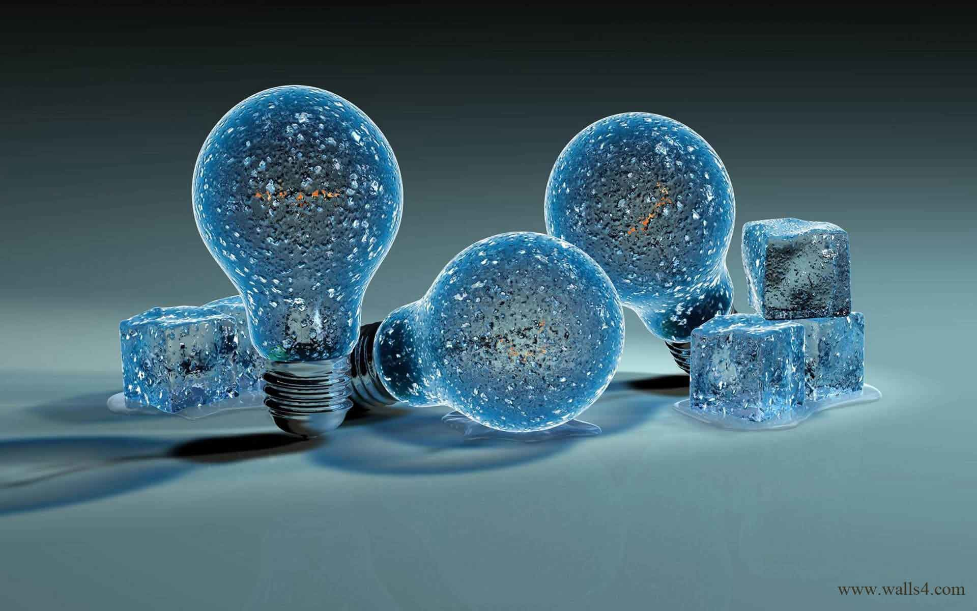Free Wallpapers – Ice bulbs of ice cubes wallpaper