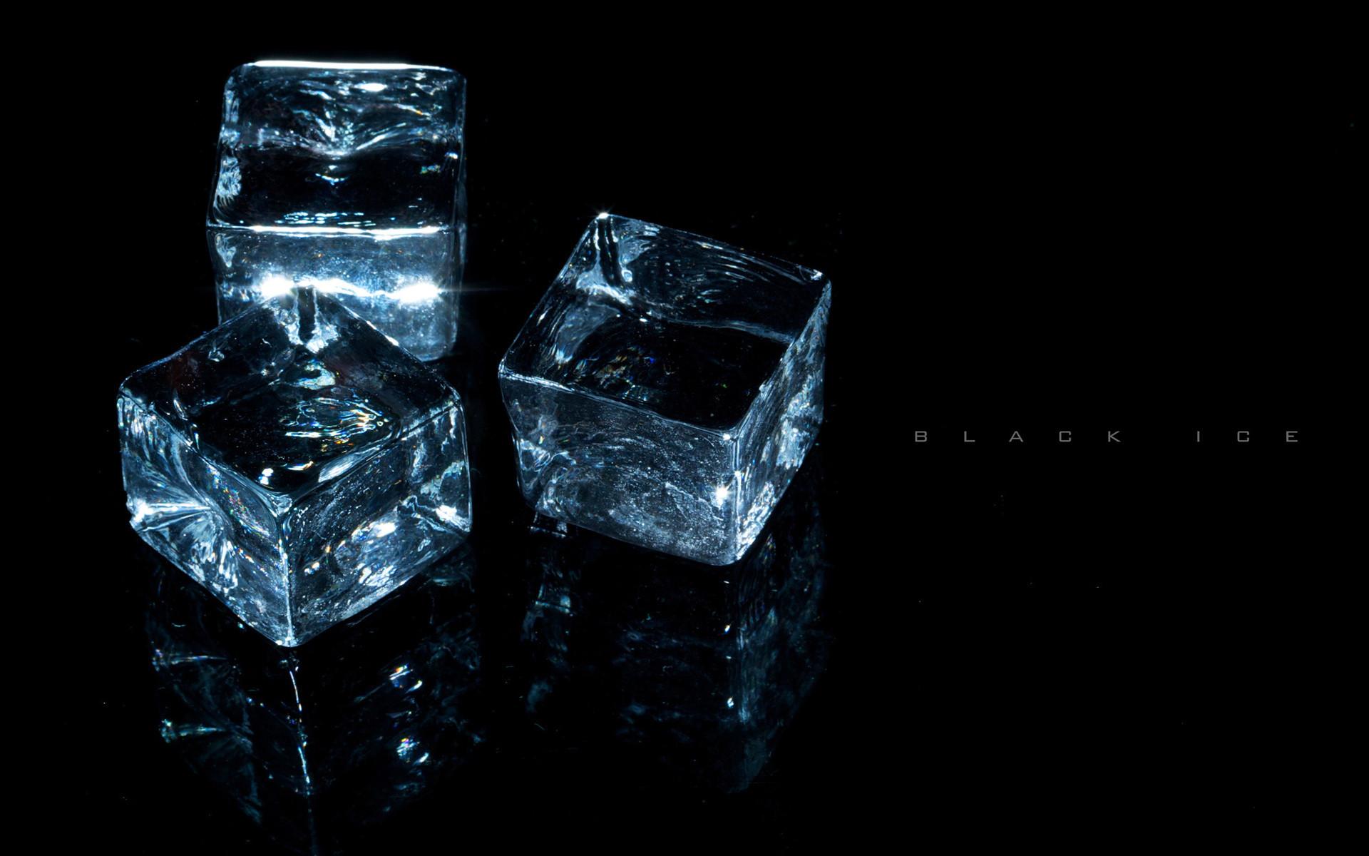 Black Ice Cubes Wallpaper