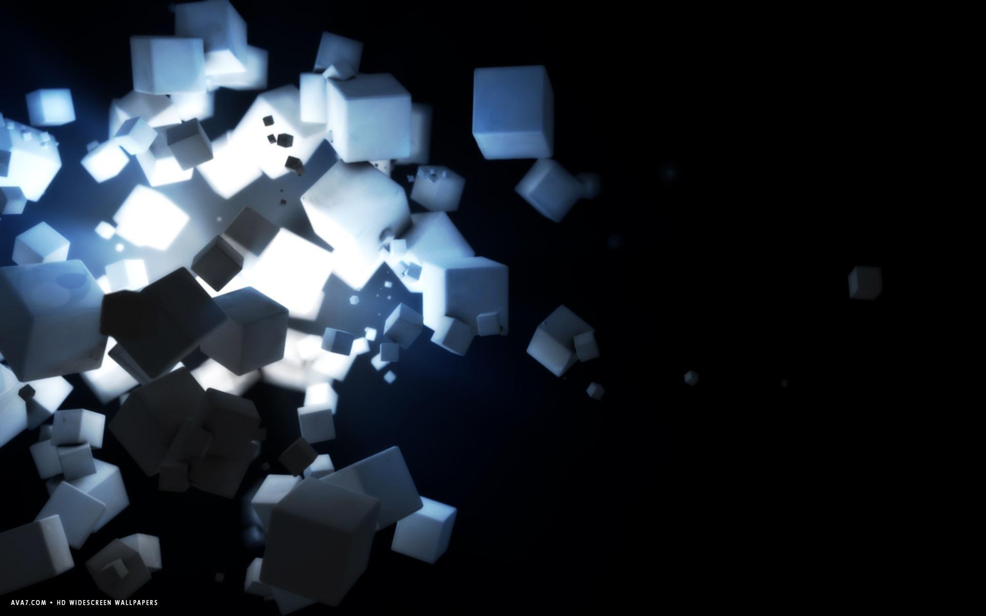 3d ice sugar cubes explosion light hd widescreen wallpaper