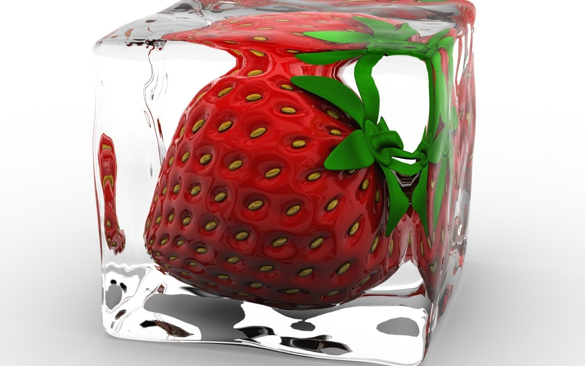 Strawberry Ice Cube wallpapers and stock photos